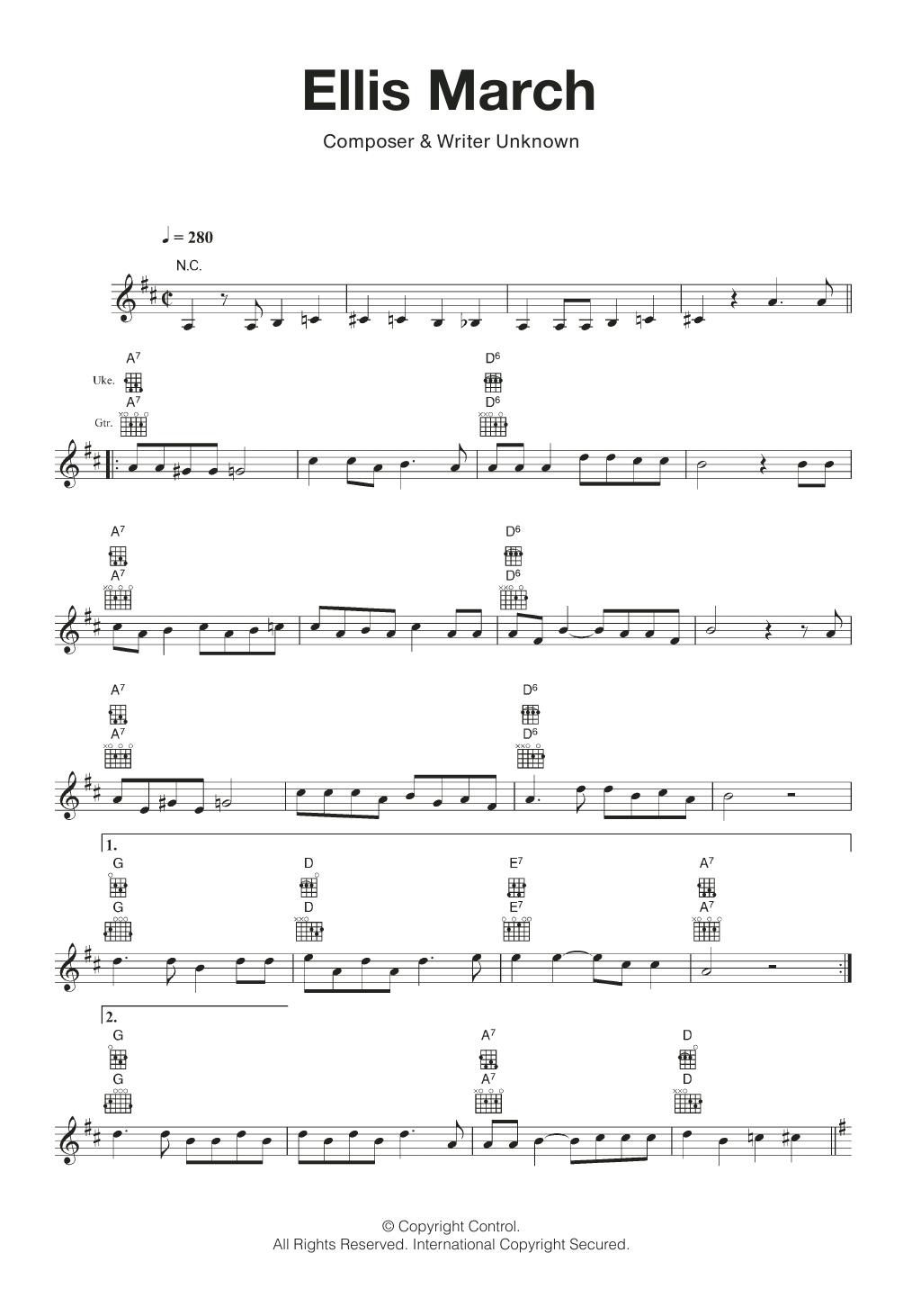 Ellis March Sheet Music