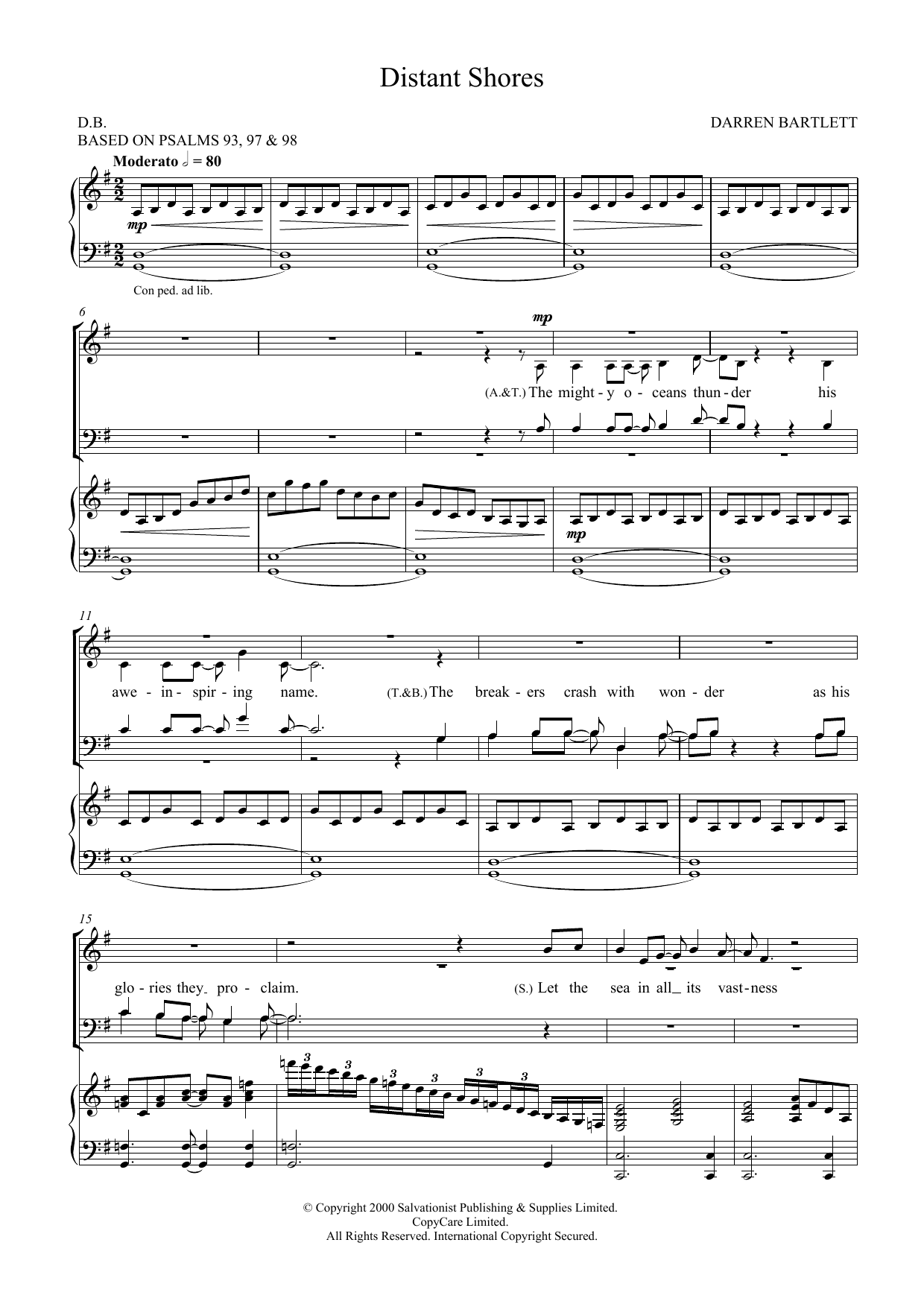 Distant Shores Sheet Music