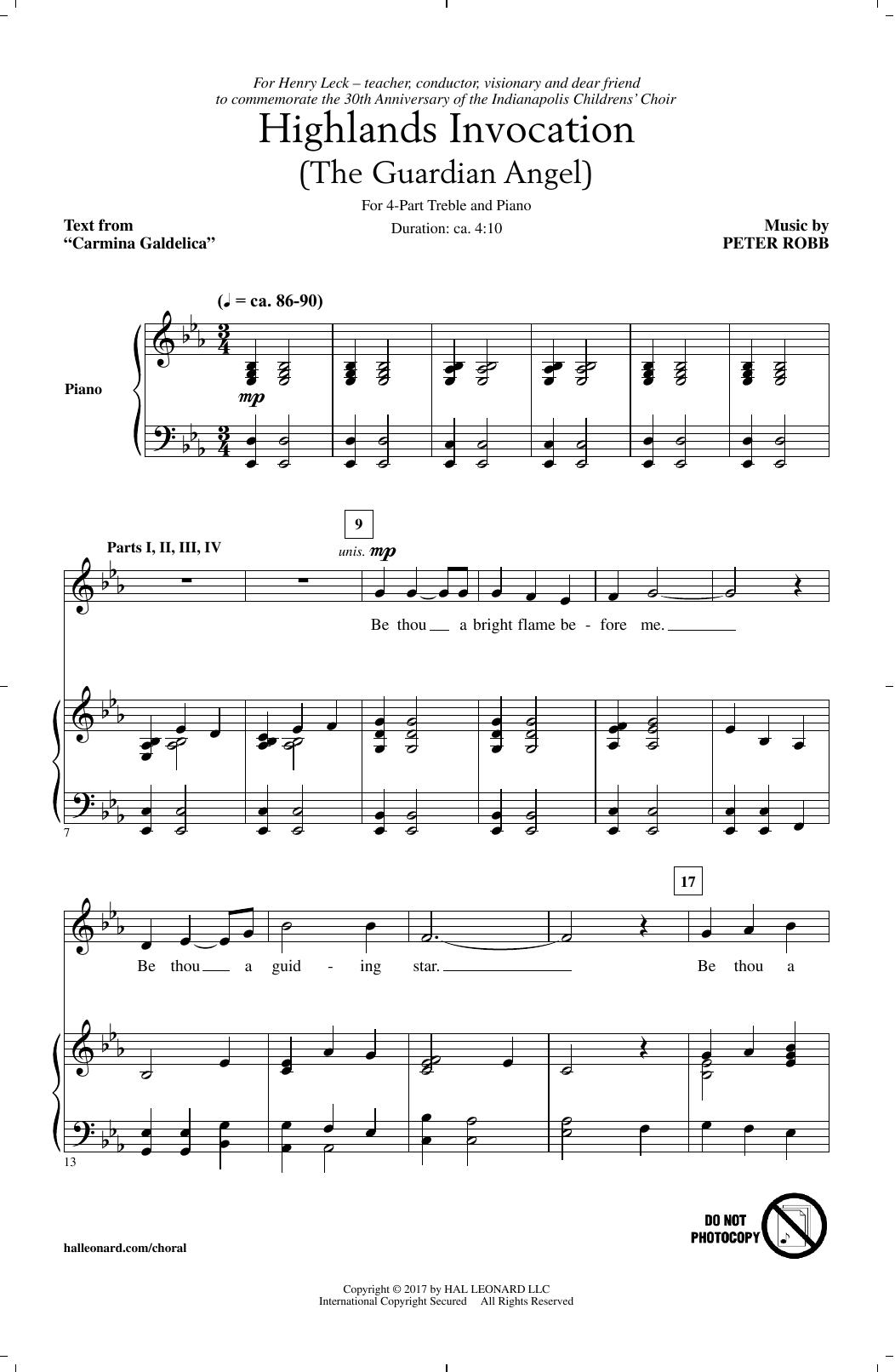 Highlands Invocation Sheet Music