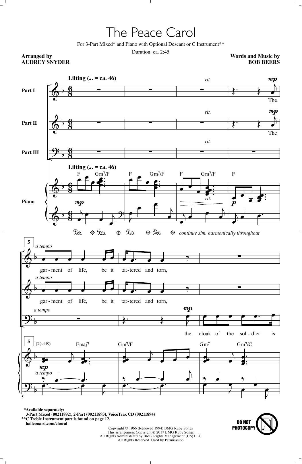 The Peace Carol Sheet Music