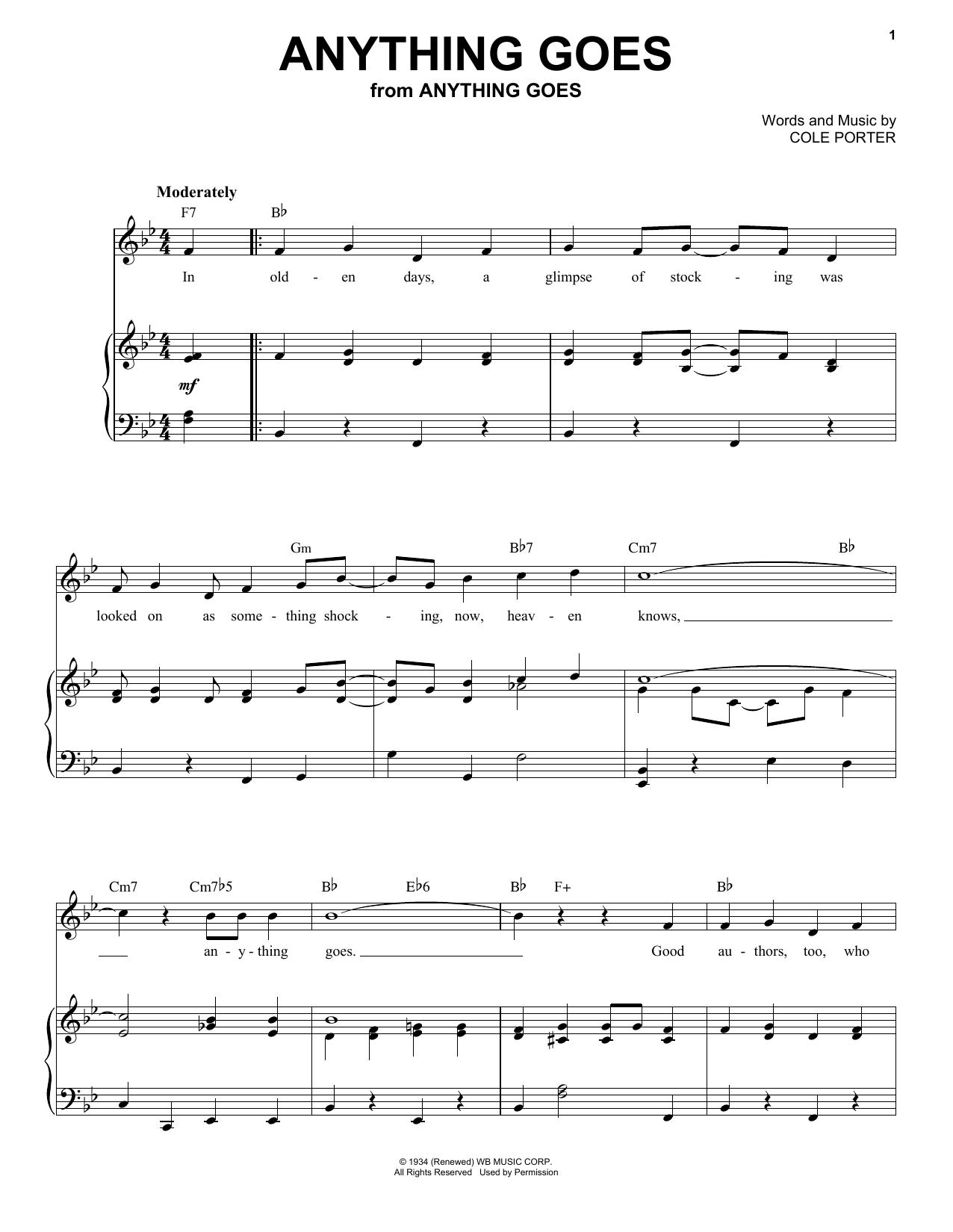 Cole Porter - Anything Goes: Anything Goes!!! Lyrics