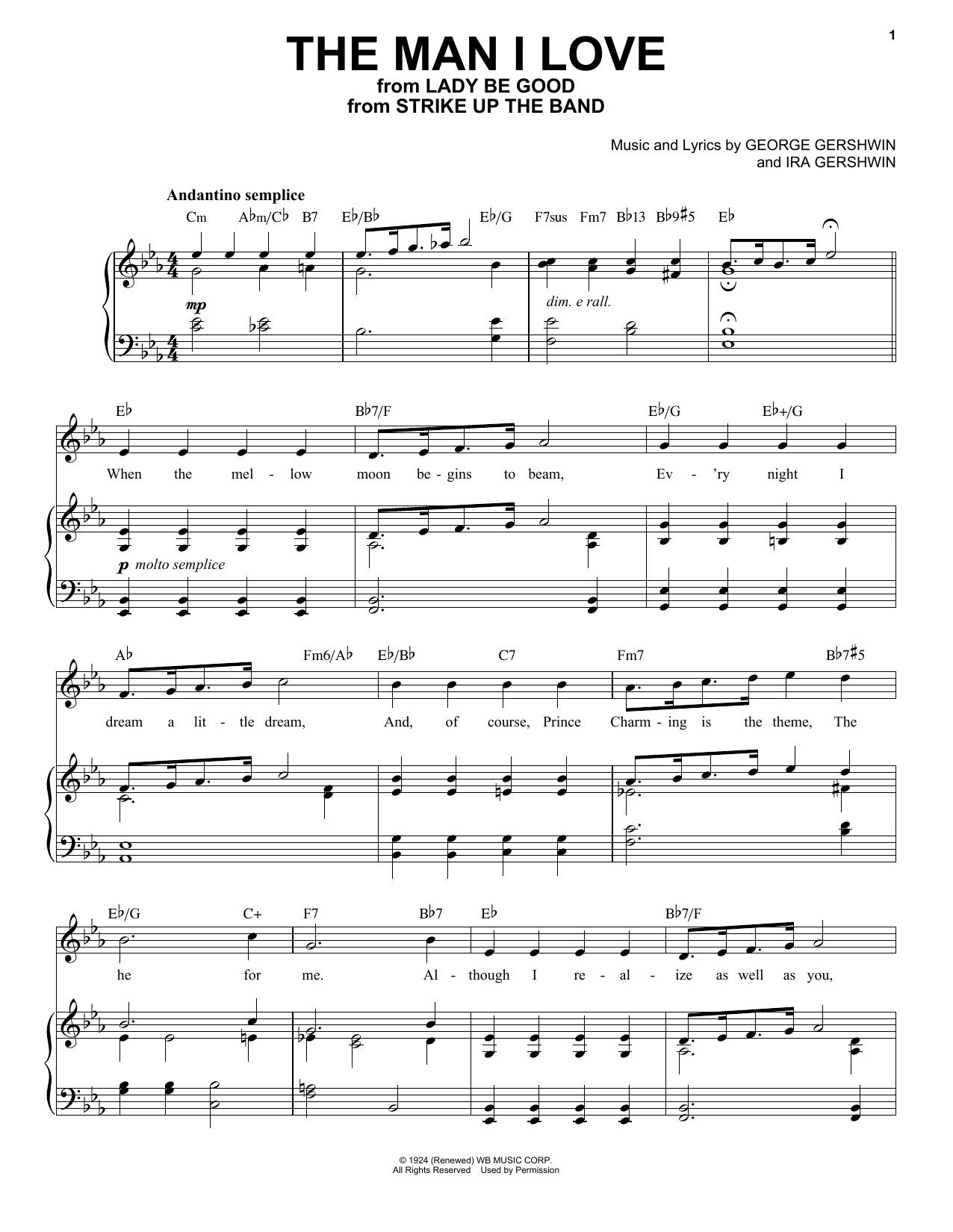 The Man I Love (Piano & Vocal)