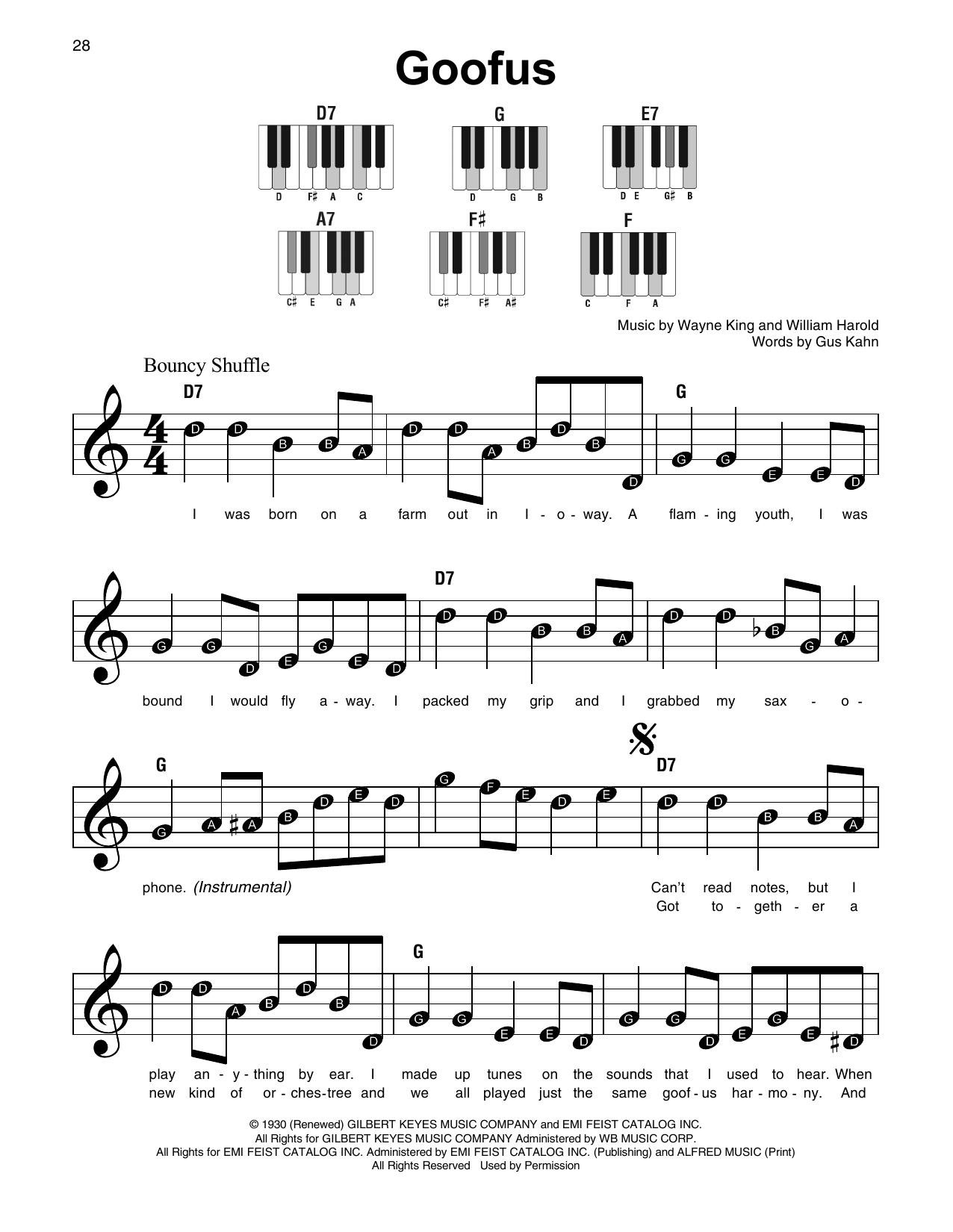 Goofus Sheet Music