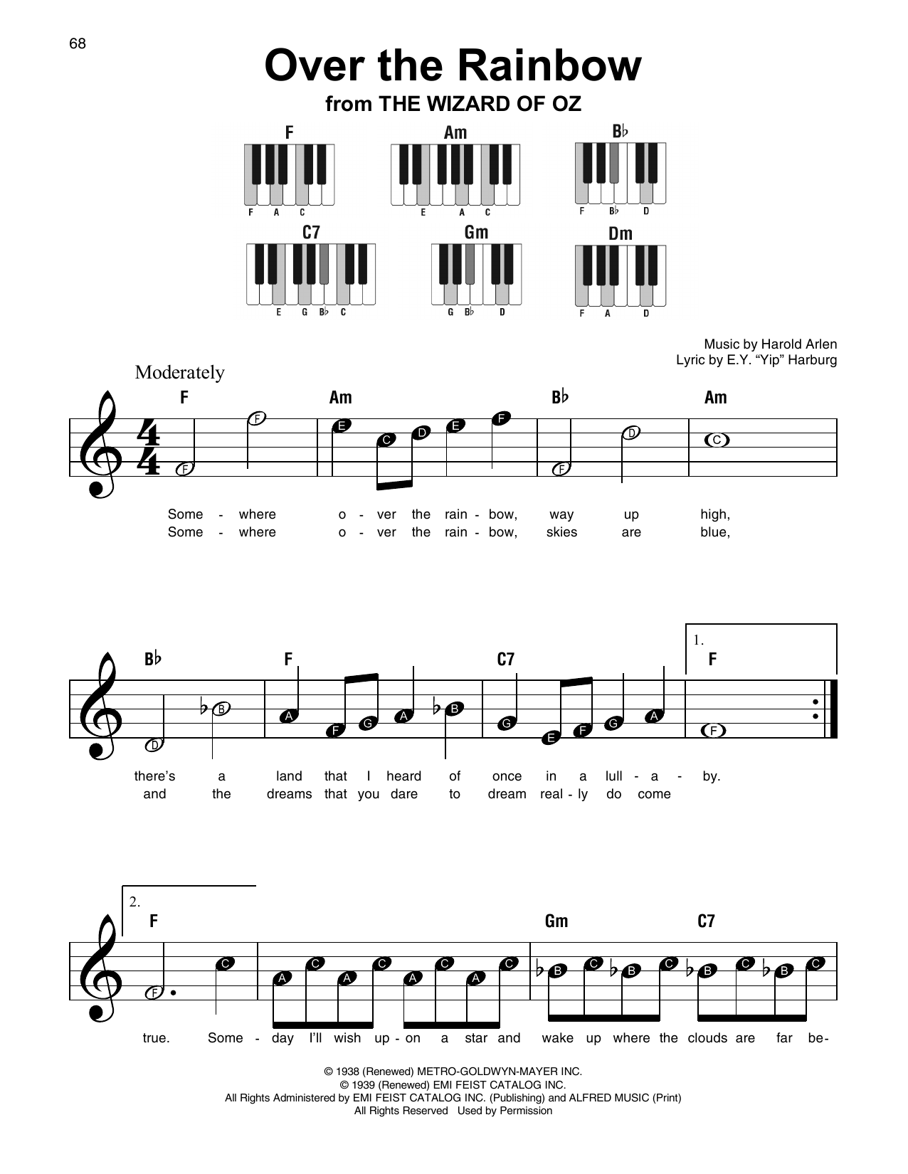 Over The Rainbow (Super Easy Piano)