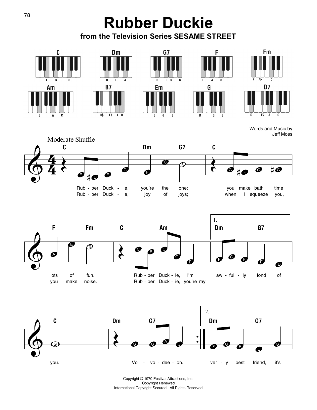 Rubber Duckie Sheet Music