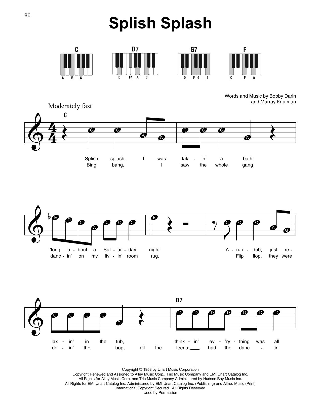 Splish Splash (Super Easy Piano)