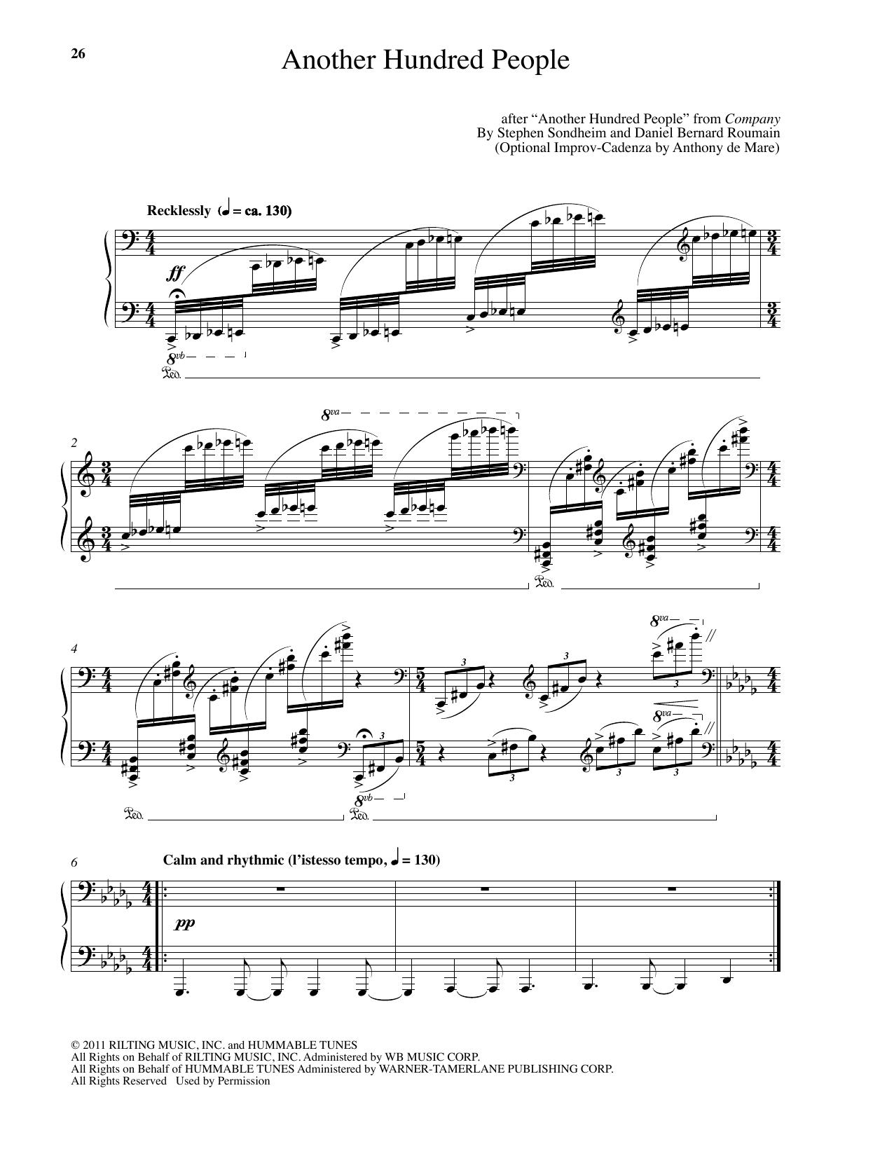 Another Hundred People (arr. Daniel Bernard Roumain) Sheet Music