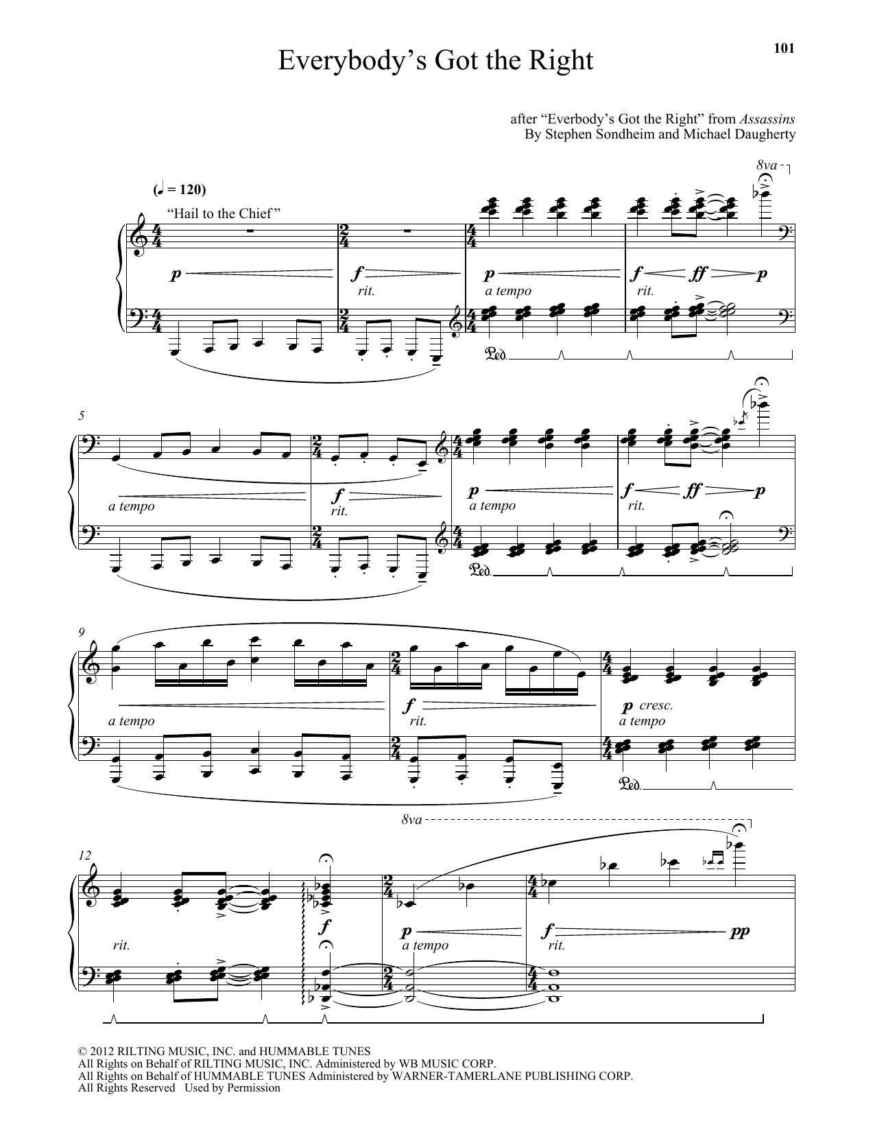 Everybody's Got The Right Sheet Music