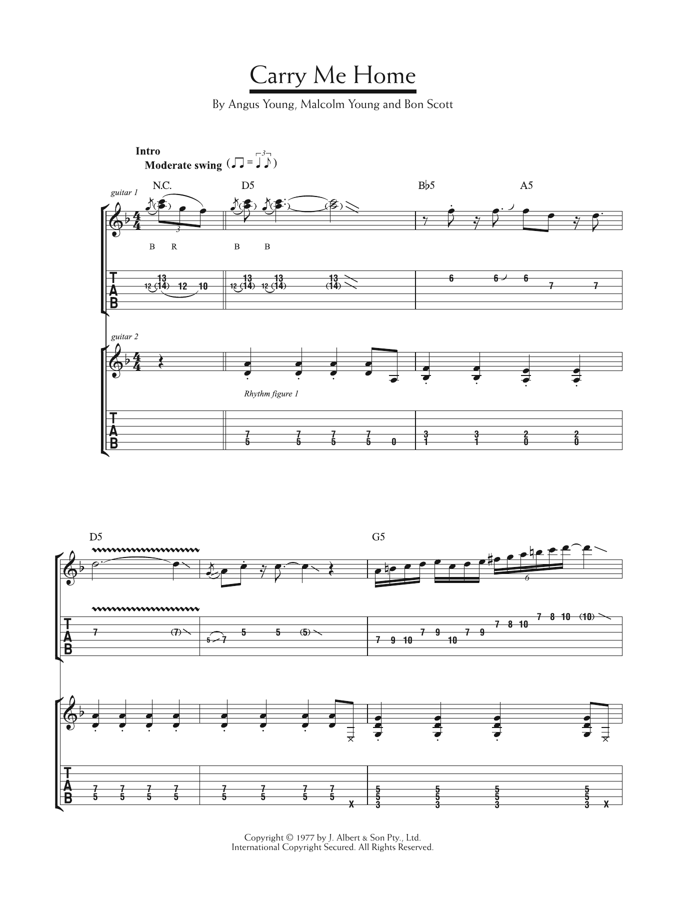 Carry Me Home Sheet Music
