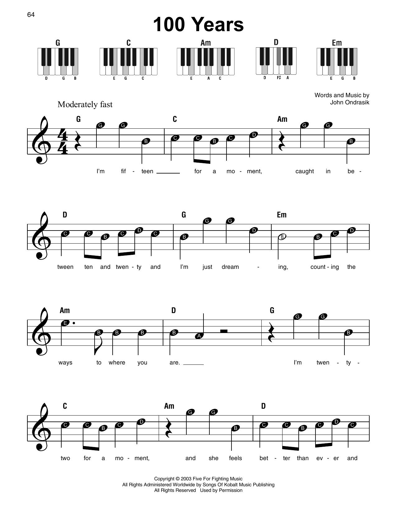 100 Years (Super Easy Piano)