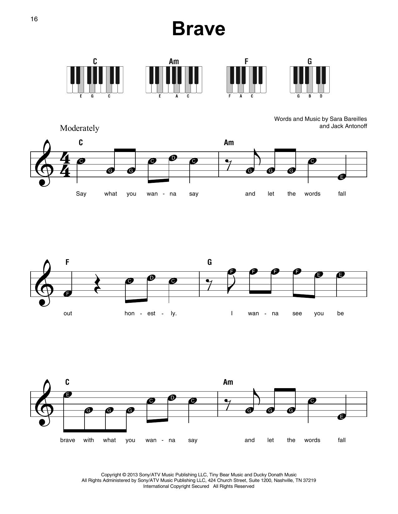 Brave Sheet Music