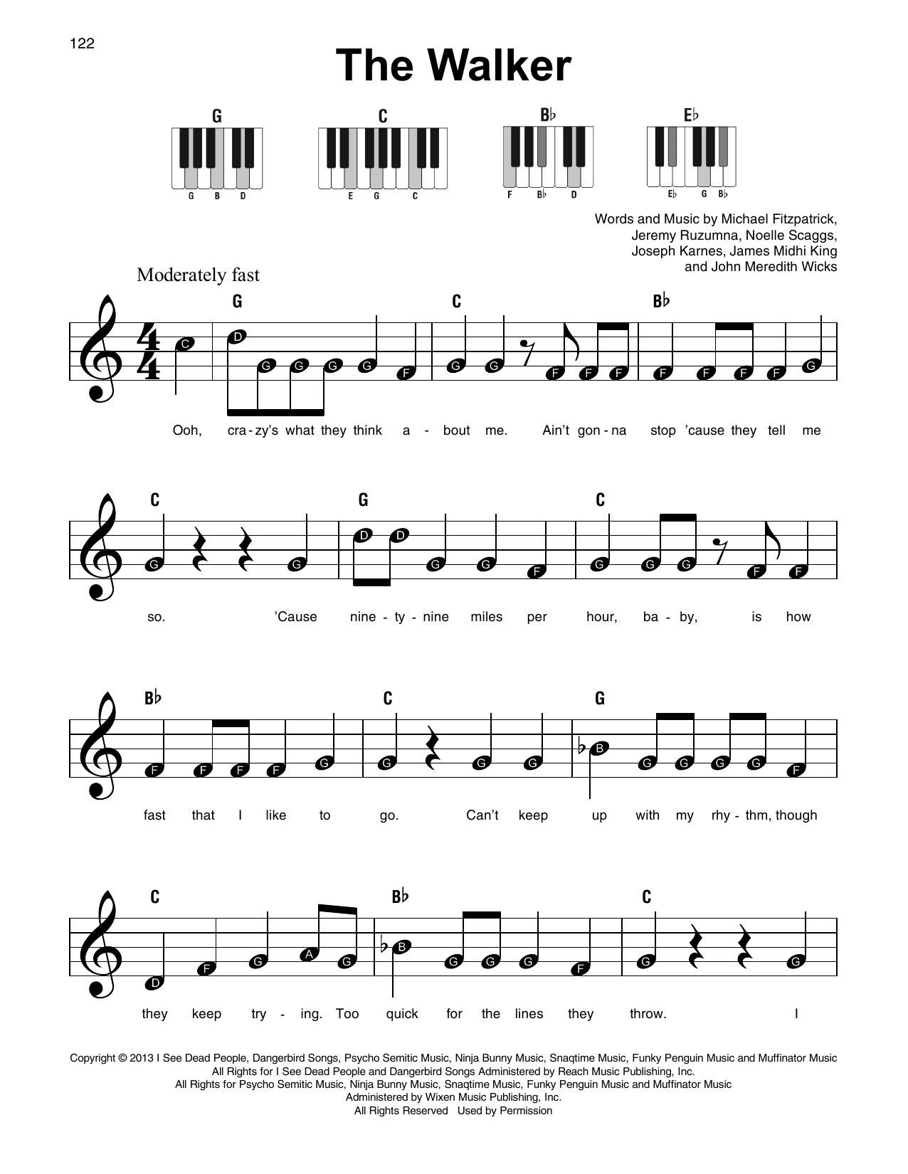 The Walker Sheet Music