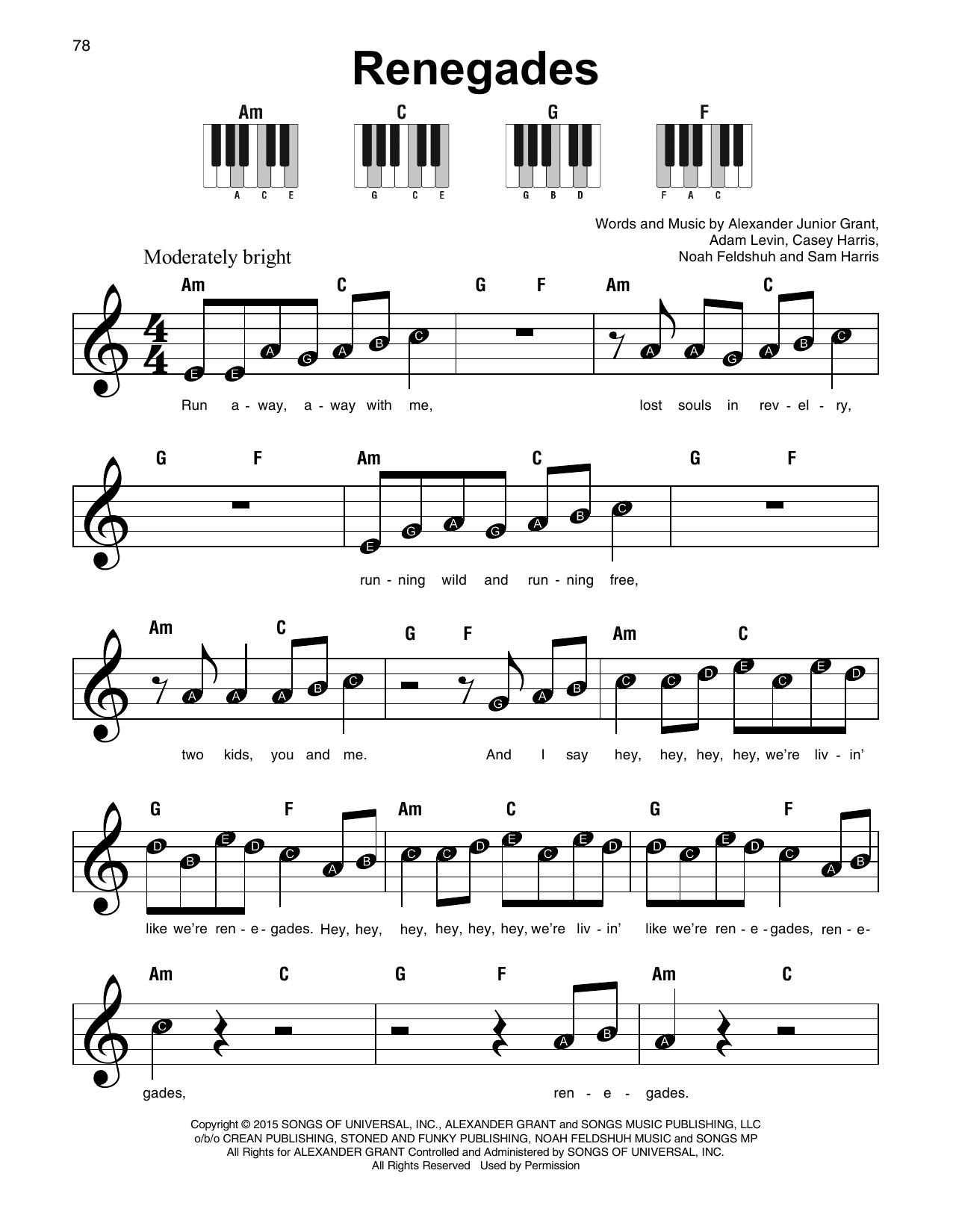 Renegades Sheet Music