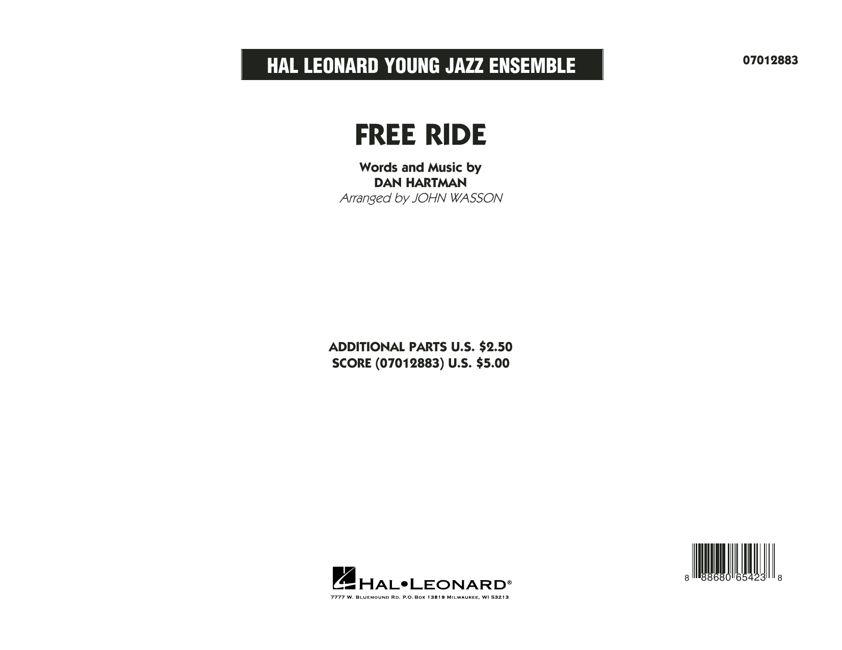 Free Ride (COMPLETE) sheet music for jazz band by Edgar Winter Group, Dan Hartman and John Wasson. Score Image Preview.