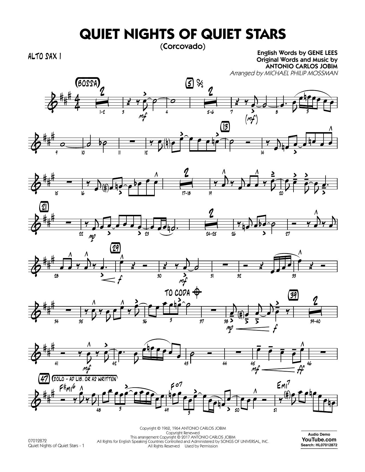 Quiet Nights of Quiet Stars (Corcovado) - Alto Sax 1 Sheet Music