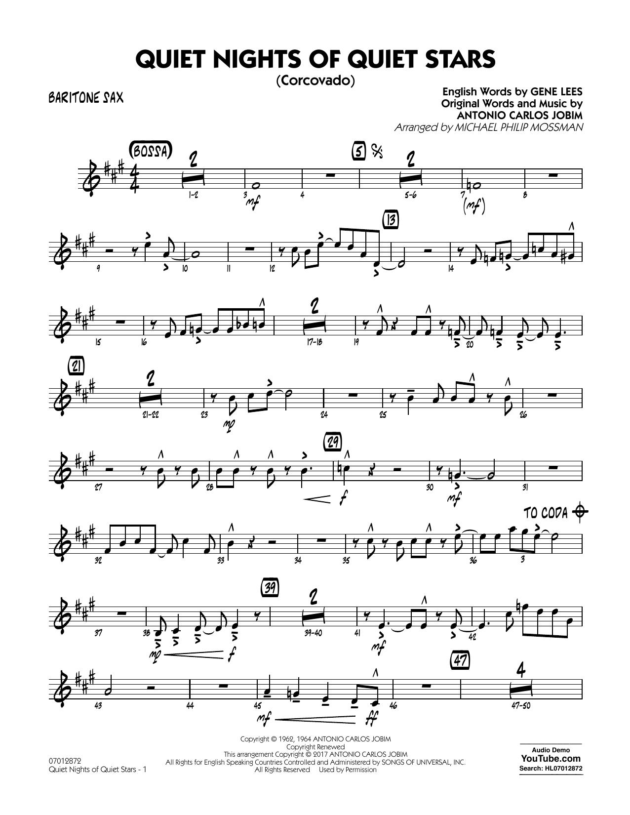 Quiet Nights of Quiet Stars (Corcovado) - Baritone Sax Sheet Music