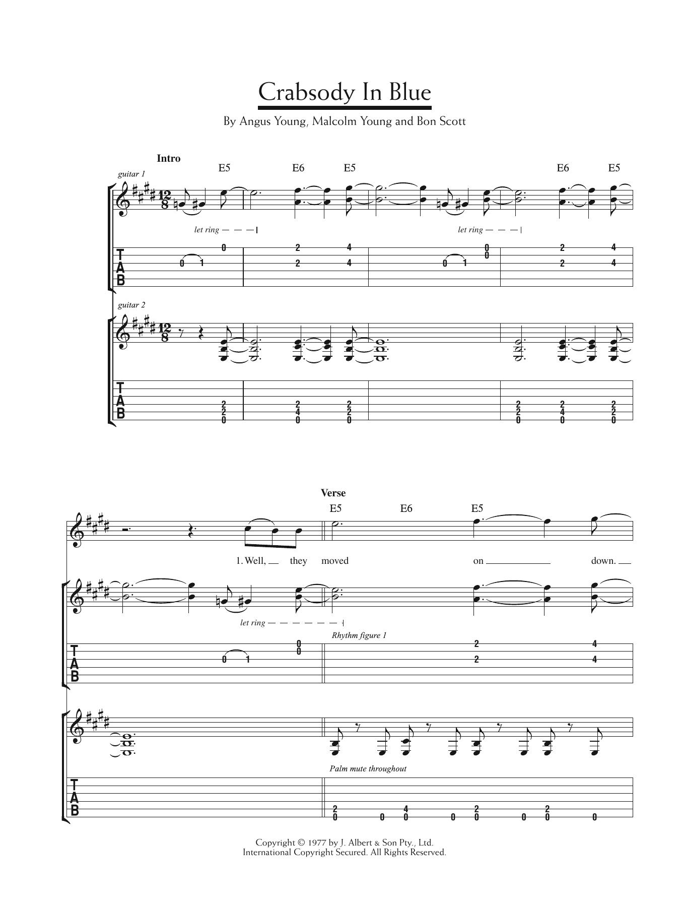 Crabsody In Blue Sheet Music