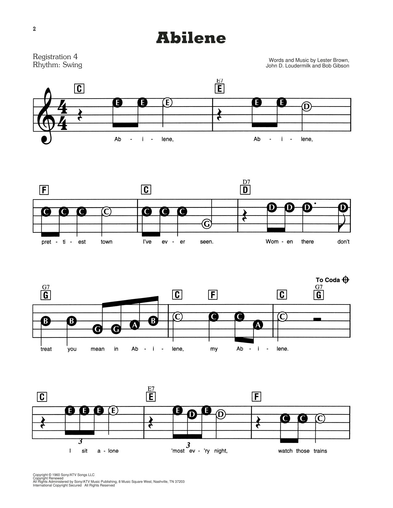 Abilene Sheet Music
