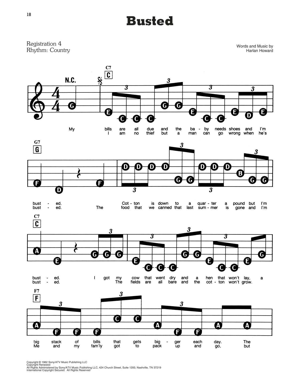 Busted Sheet Music