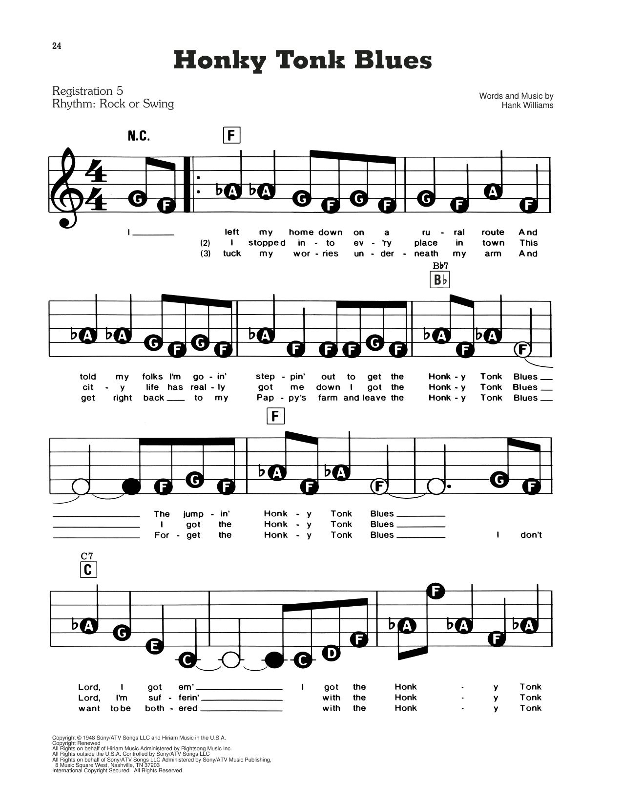 Honky Tonk Blues (E-Z Play Today)
