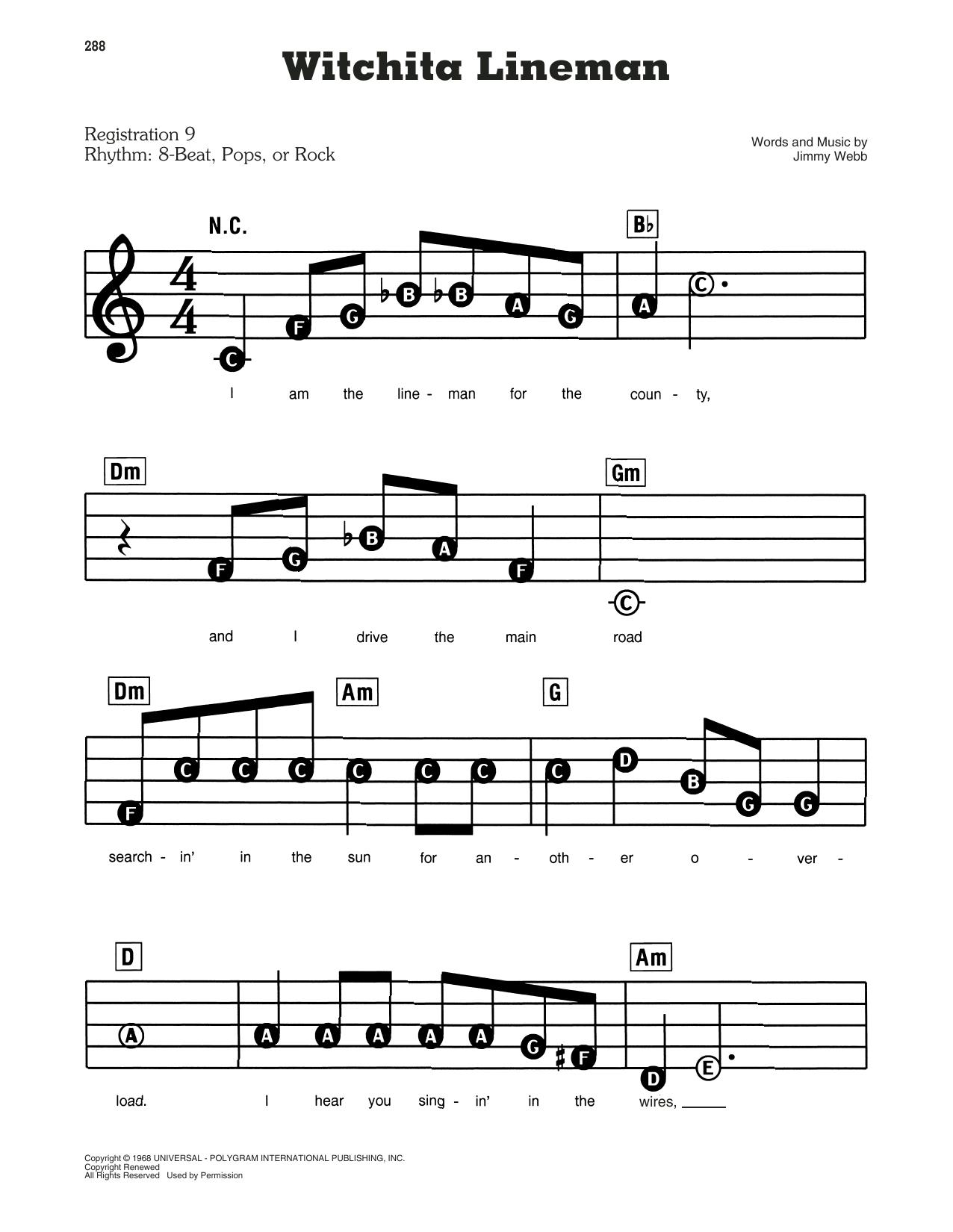 Wichita Lineman (E-Z Play Today)