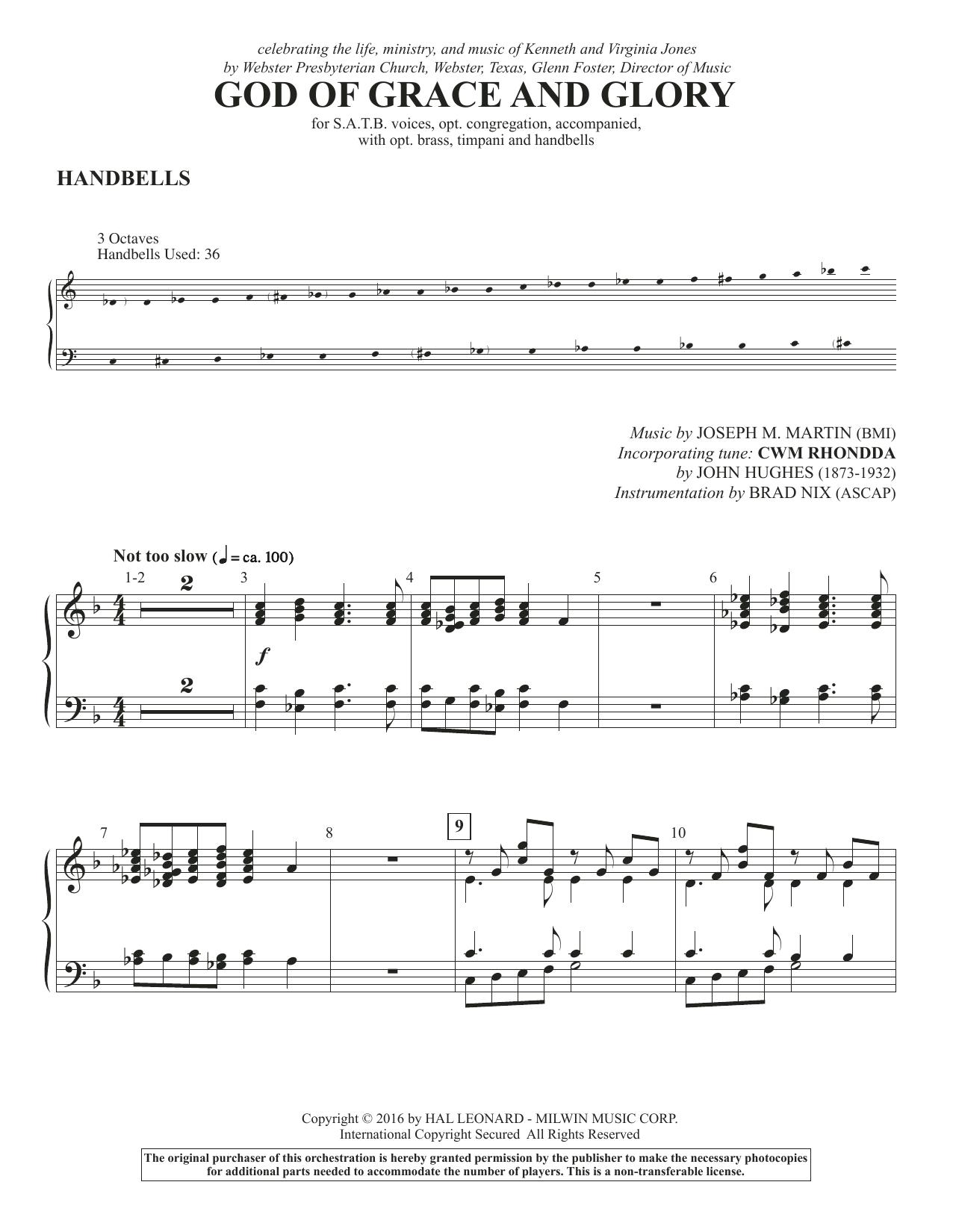 God of Grace and Glory - Handbells Sheet Music