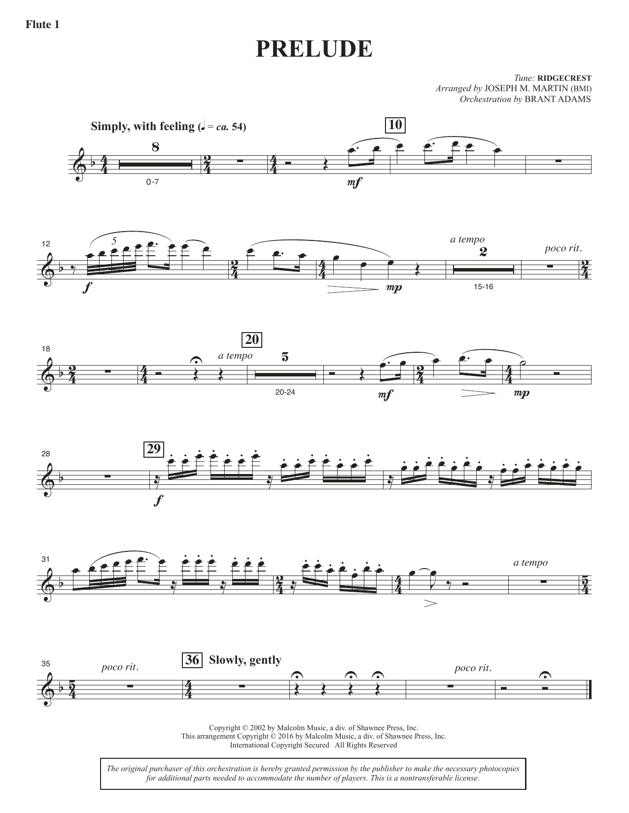Sacred Places - Flute 1 Sheet Music