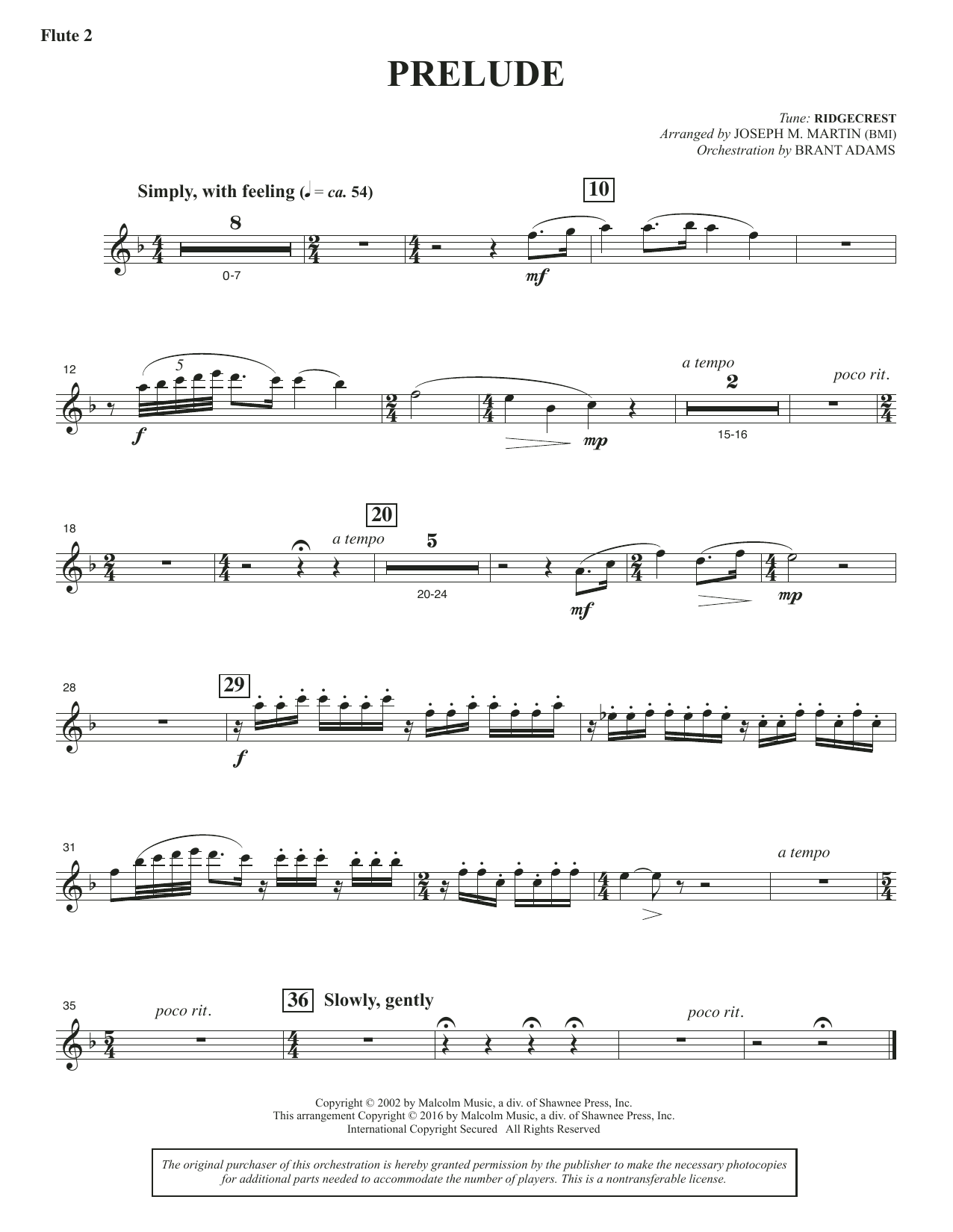 Sacred Places - Flute 2 (Piccolo) Sheet Music