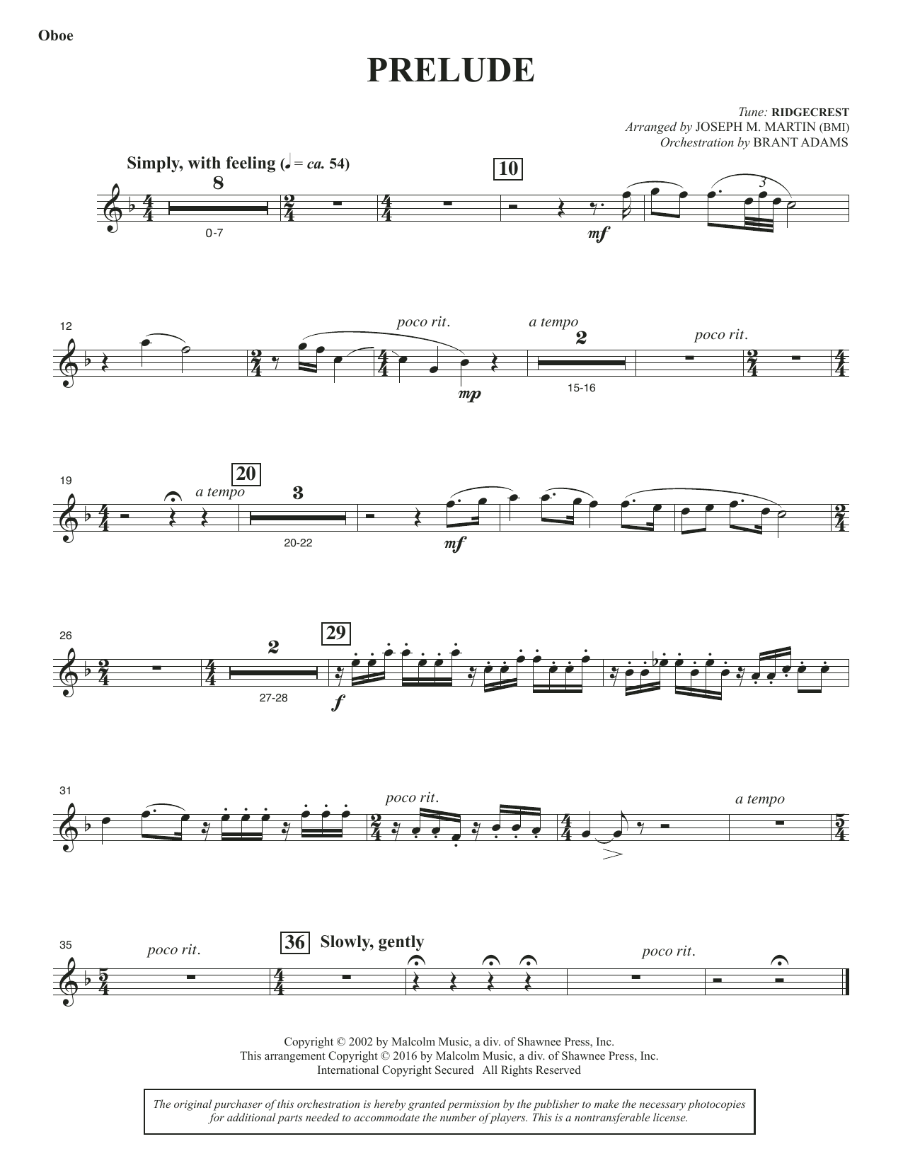 Sacred Places - Oboe/English Horn Sheet Music