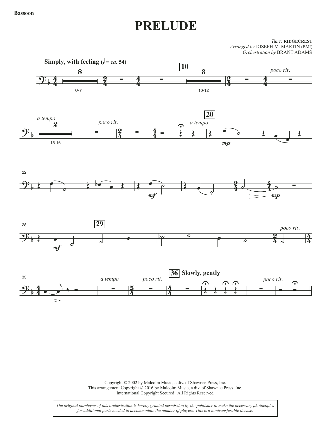 Sacred Places - Bassoon Sheet Music