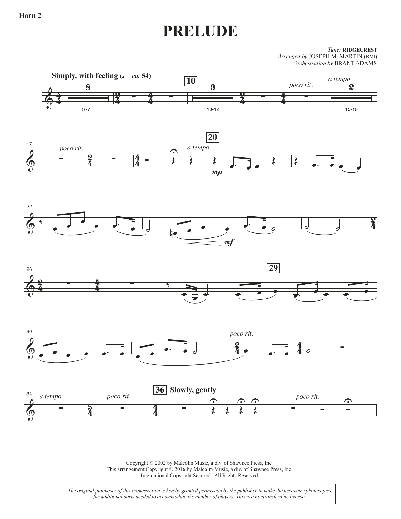 Sacred Places - F Horn 2 Sheet Music