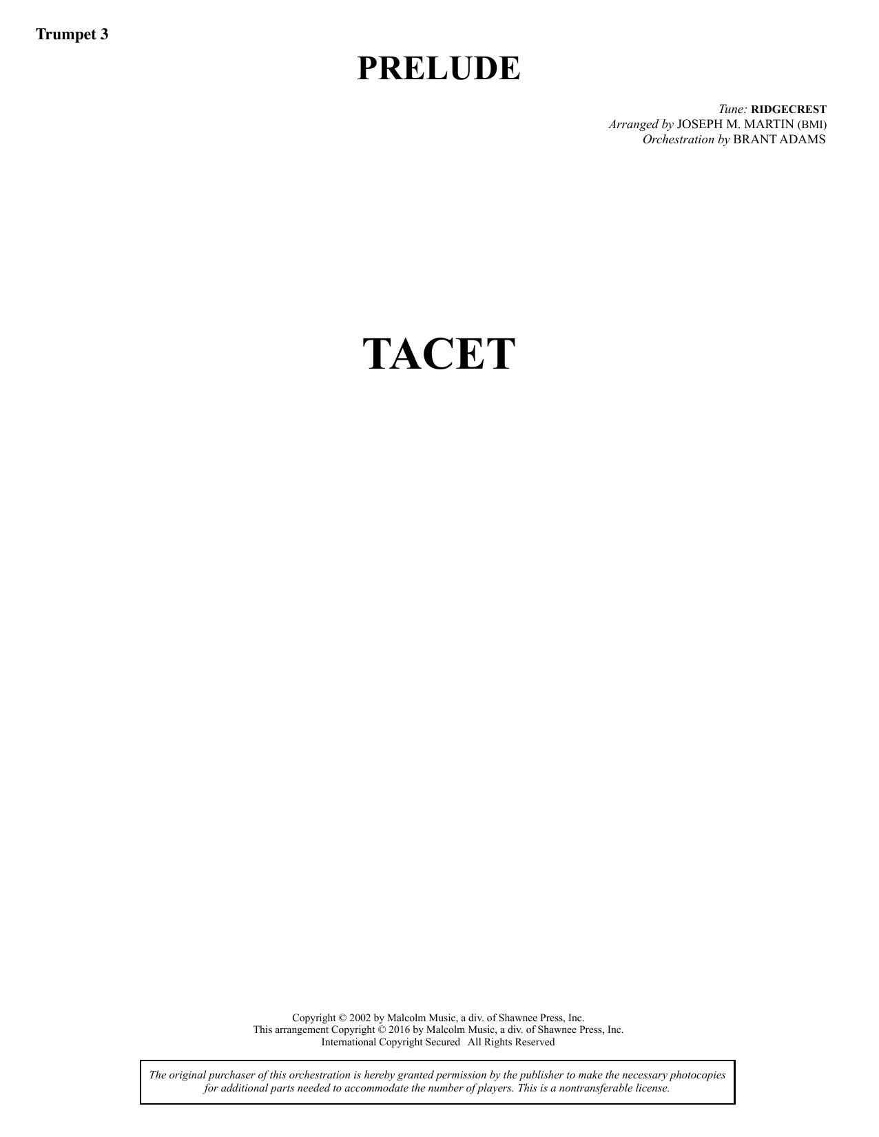 Sacred Places - Bb Trumpet 3 Sheet Music