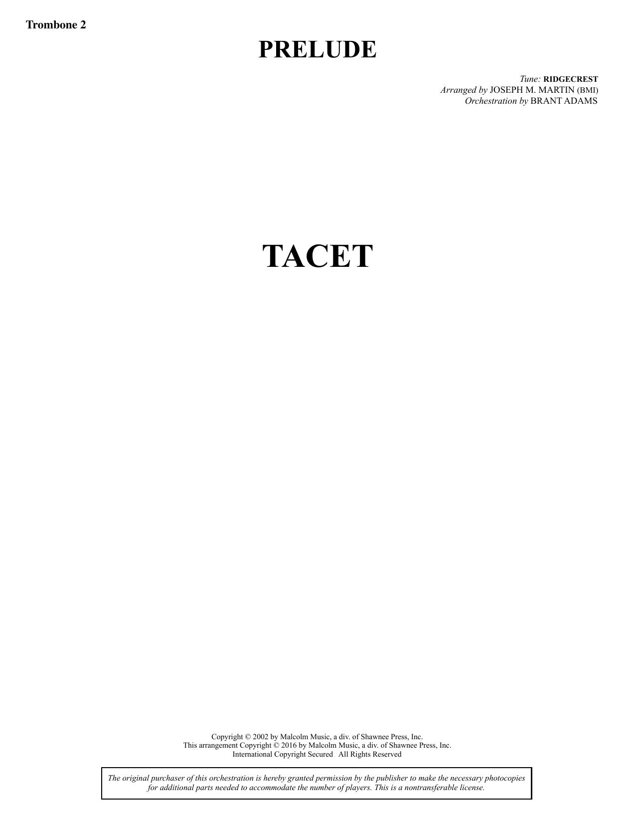 Sacred Places - Trombone 2 Sheet Music