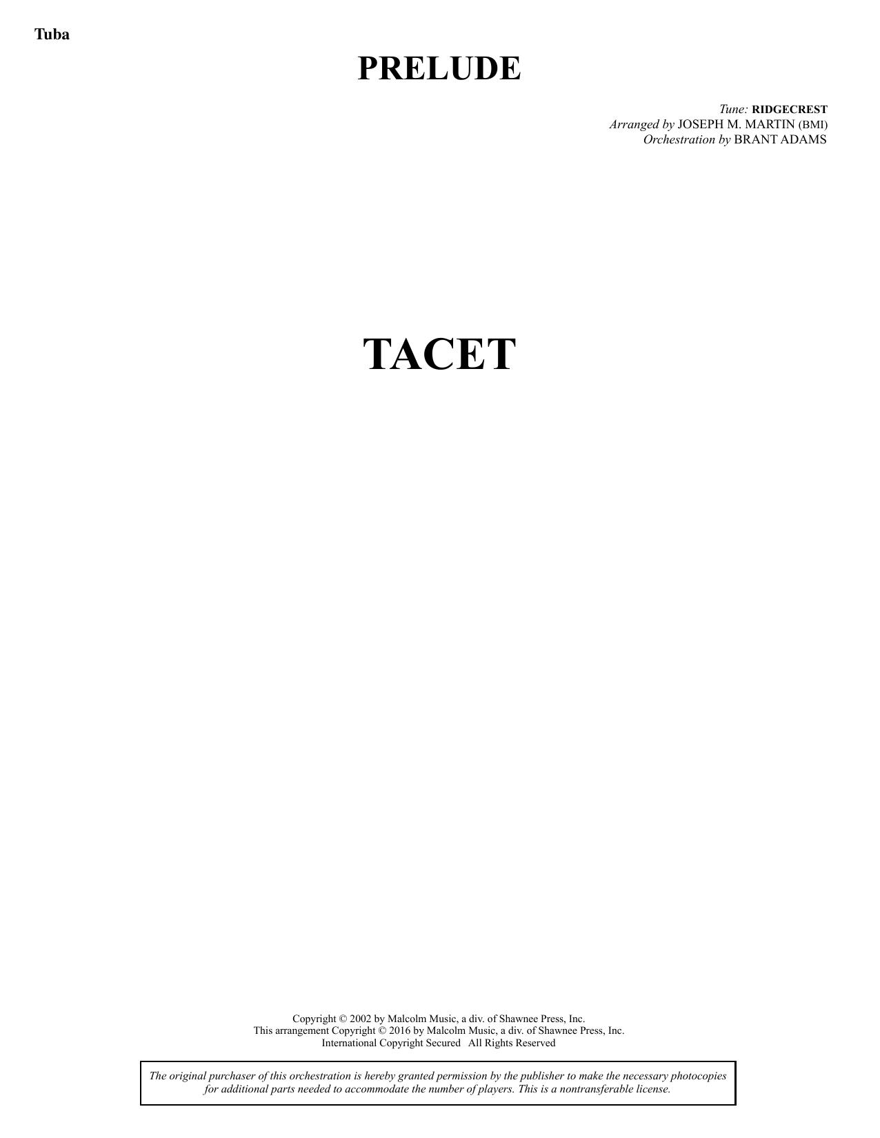 Sacred Places - Tuba Sheet Music