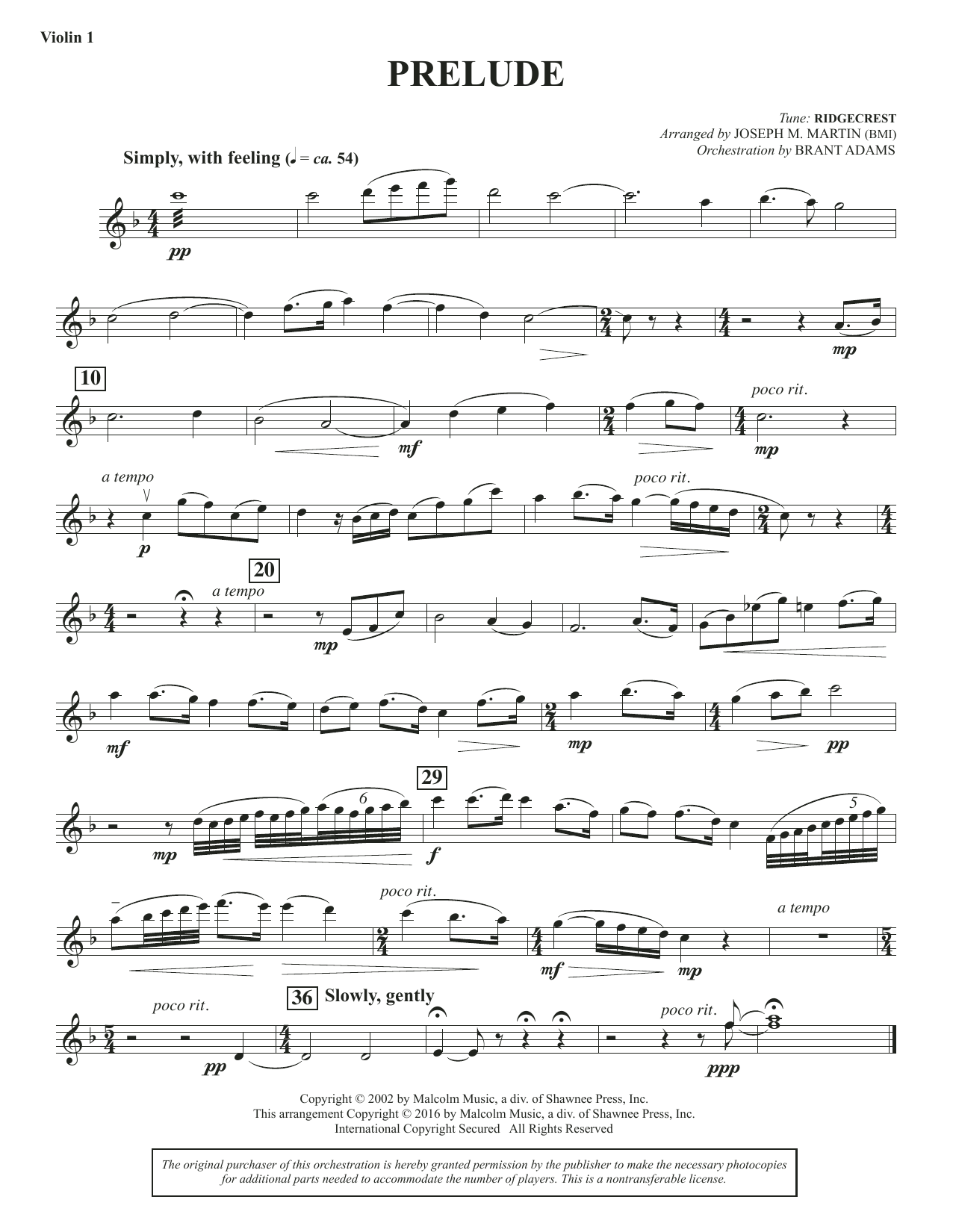 Sacred Places - Violin 1 Sheet Music