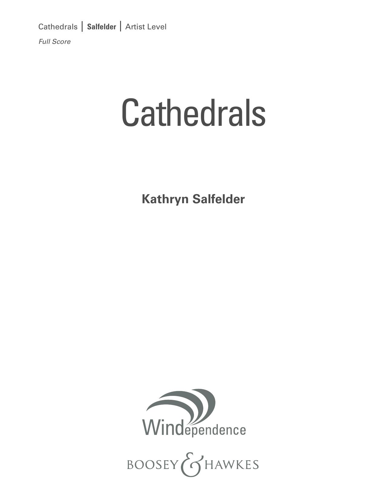 Cathedrals - Conductor Score (Full Score) (Concert Band)