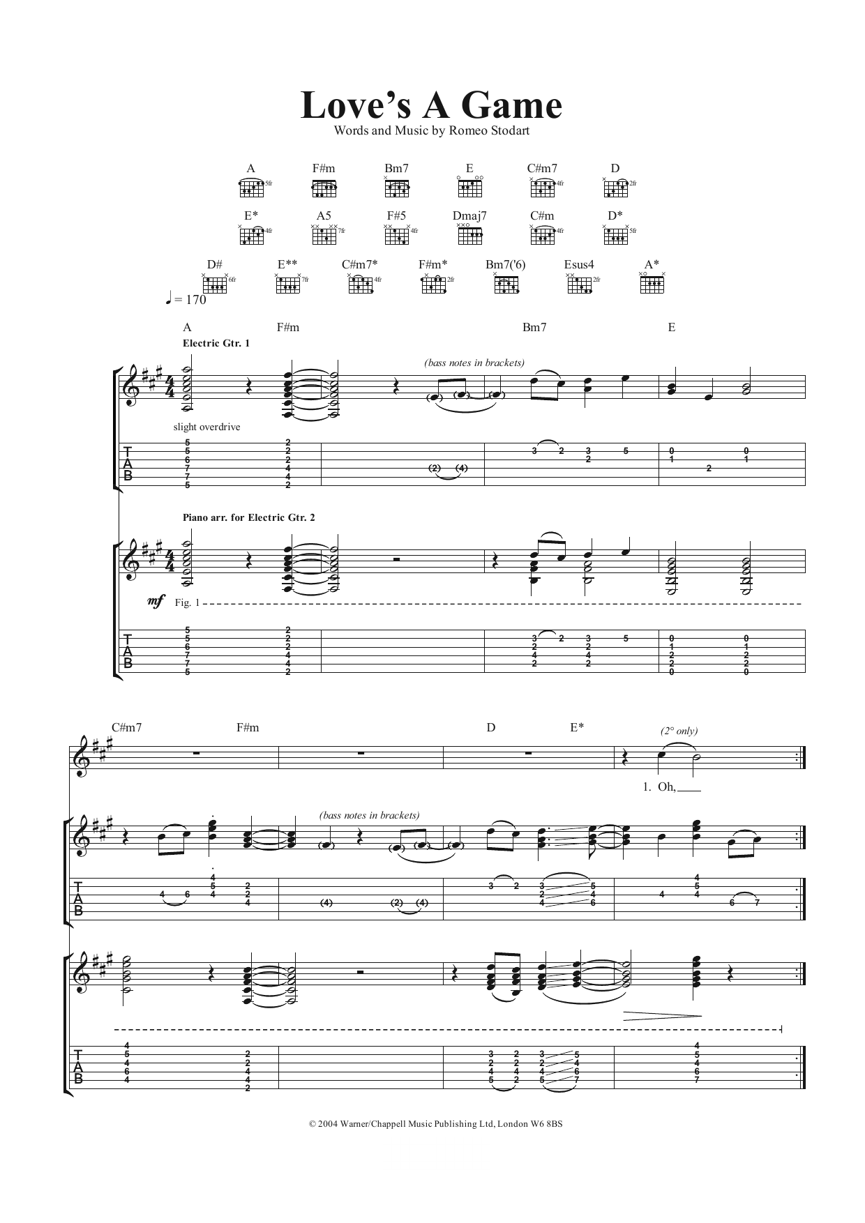 Loveu0026#39;s A Game by The Magic Numbers - Guitar Tab - Guitar Instructor