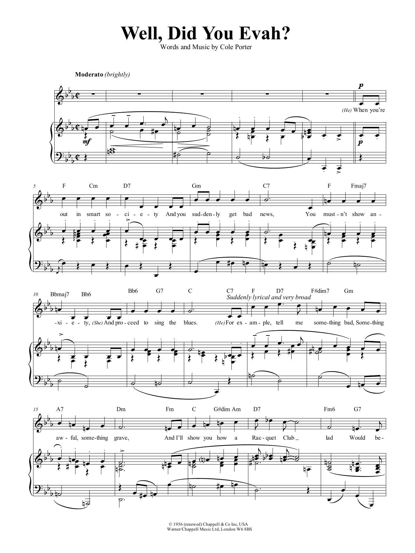 Well, Did You Evah (Piano, Vocal & Guitar (Right-Hand Melody))