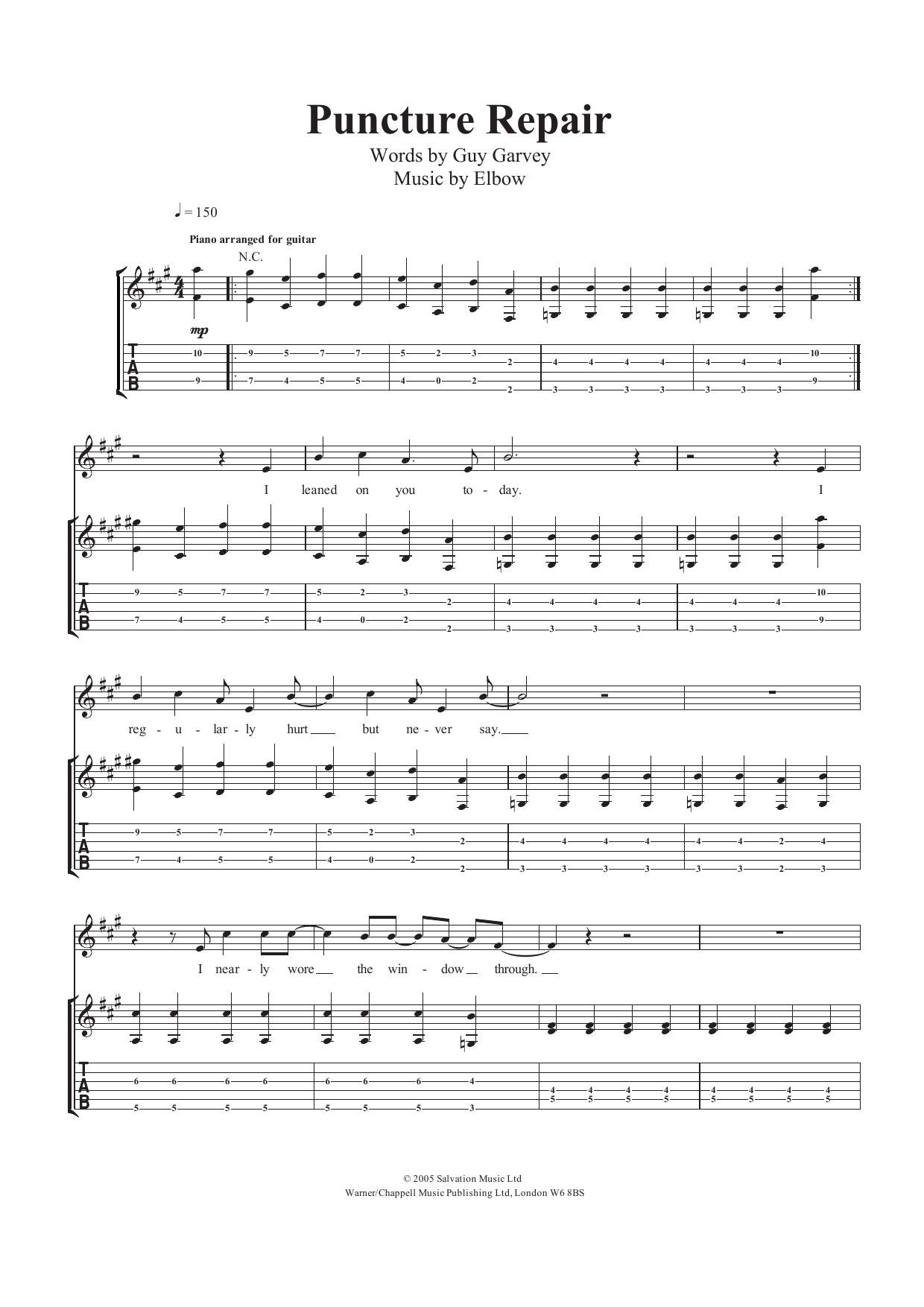 Puncture Repair Sheet Music