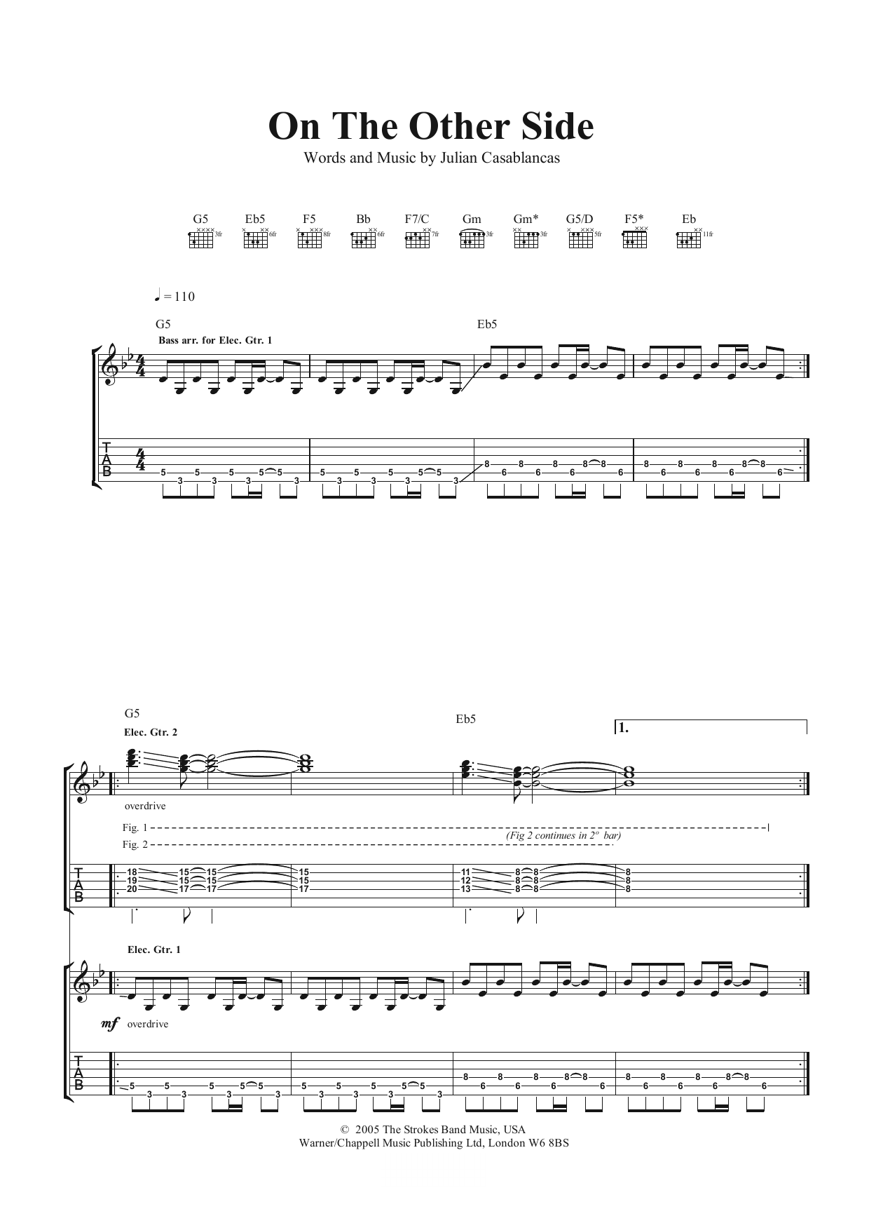 On The Other Side Sheet Music