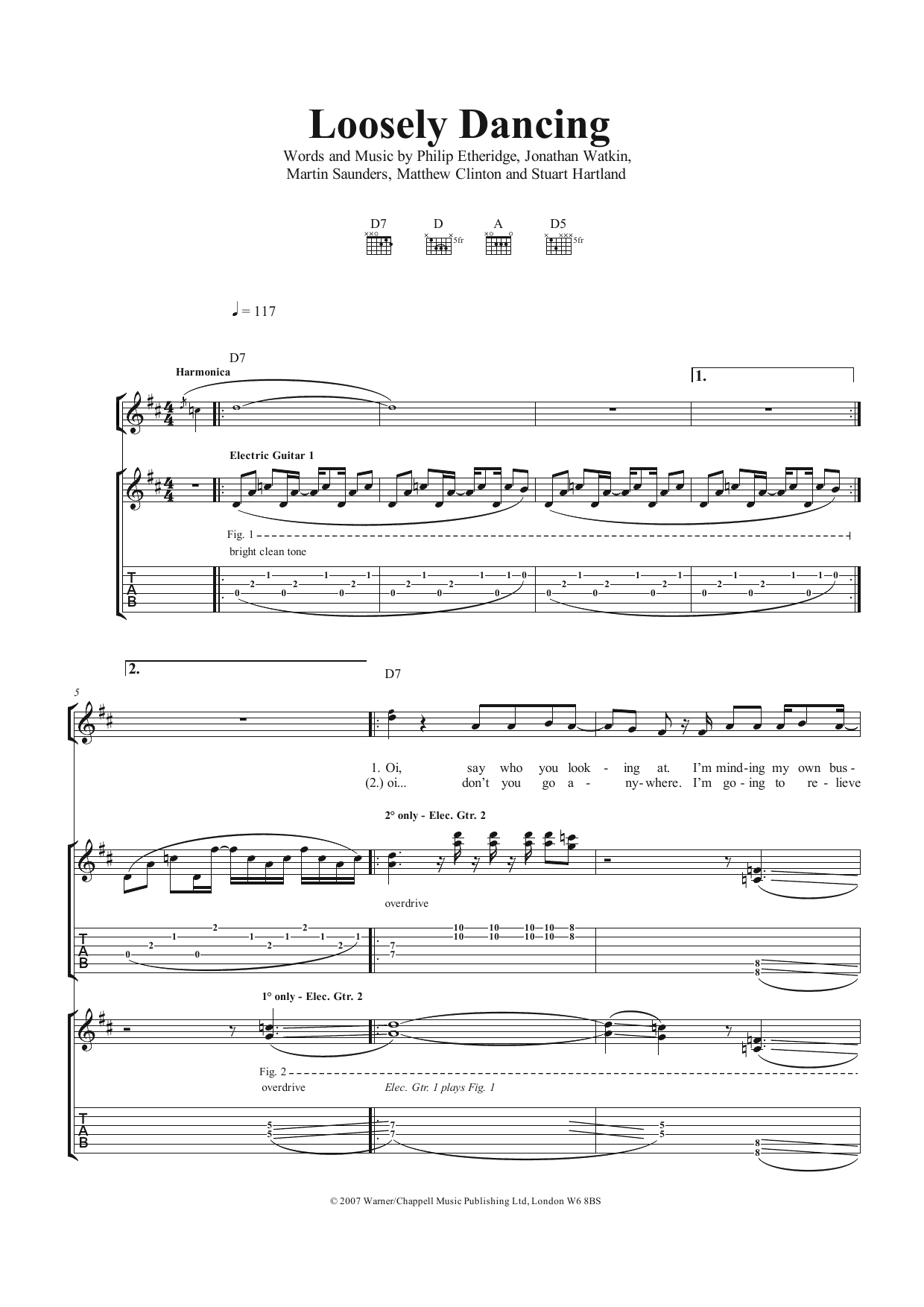 Loosely Dancing (Guitar Tab)