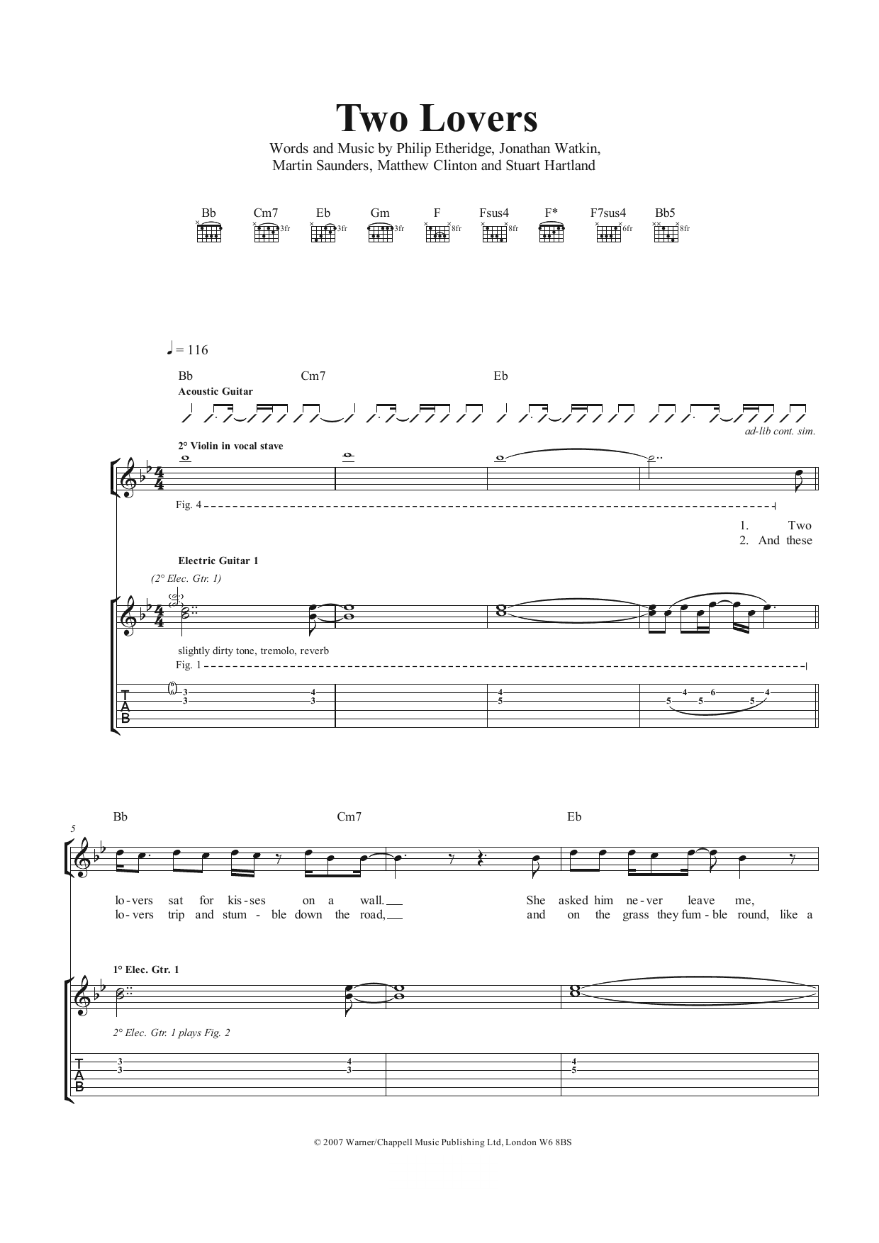 Two Lovers (Guitar Tab)