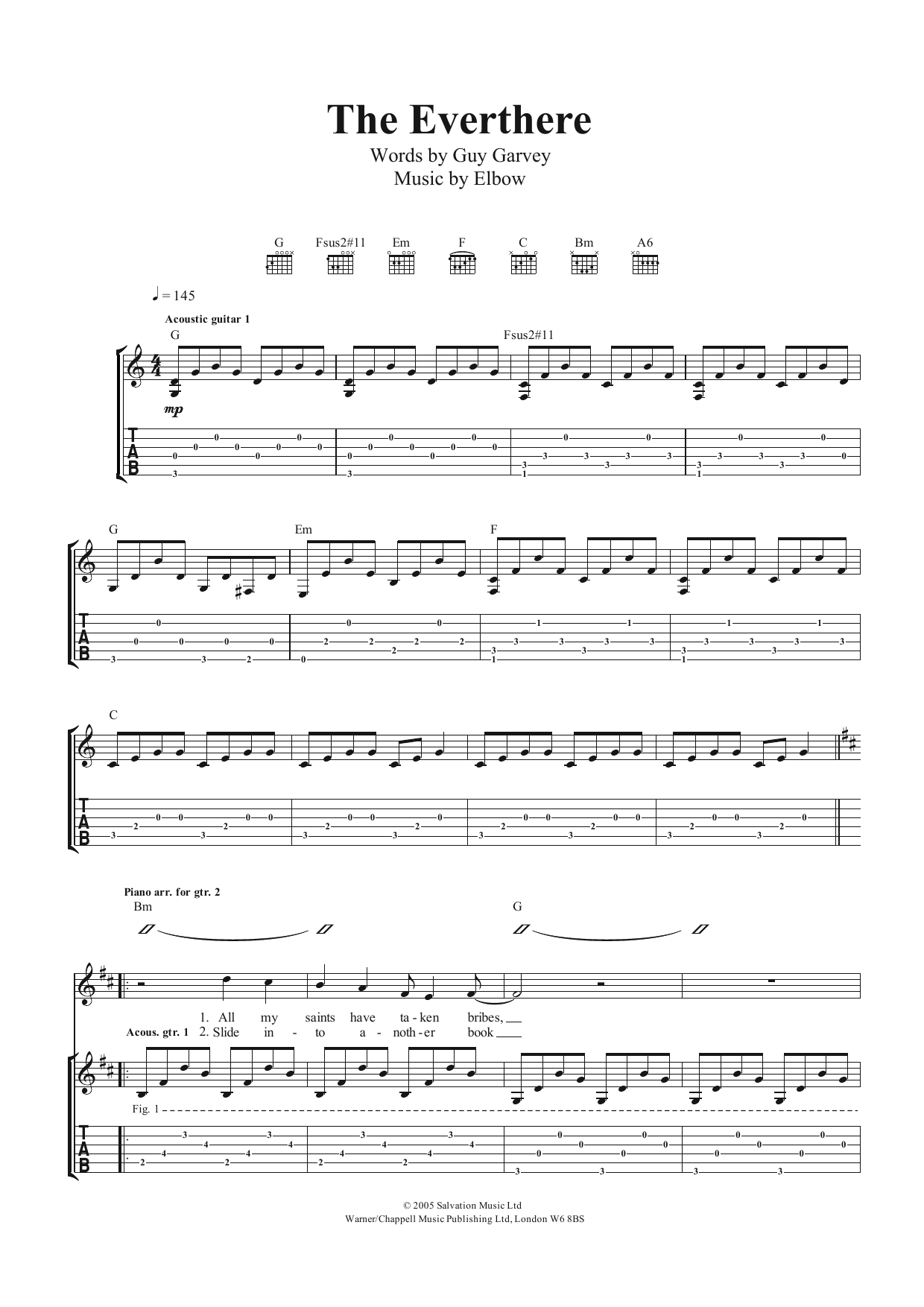 The Everthere Sheet Music