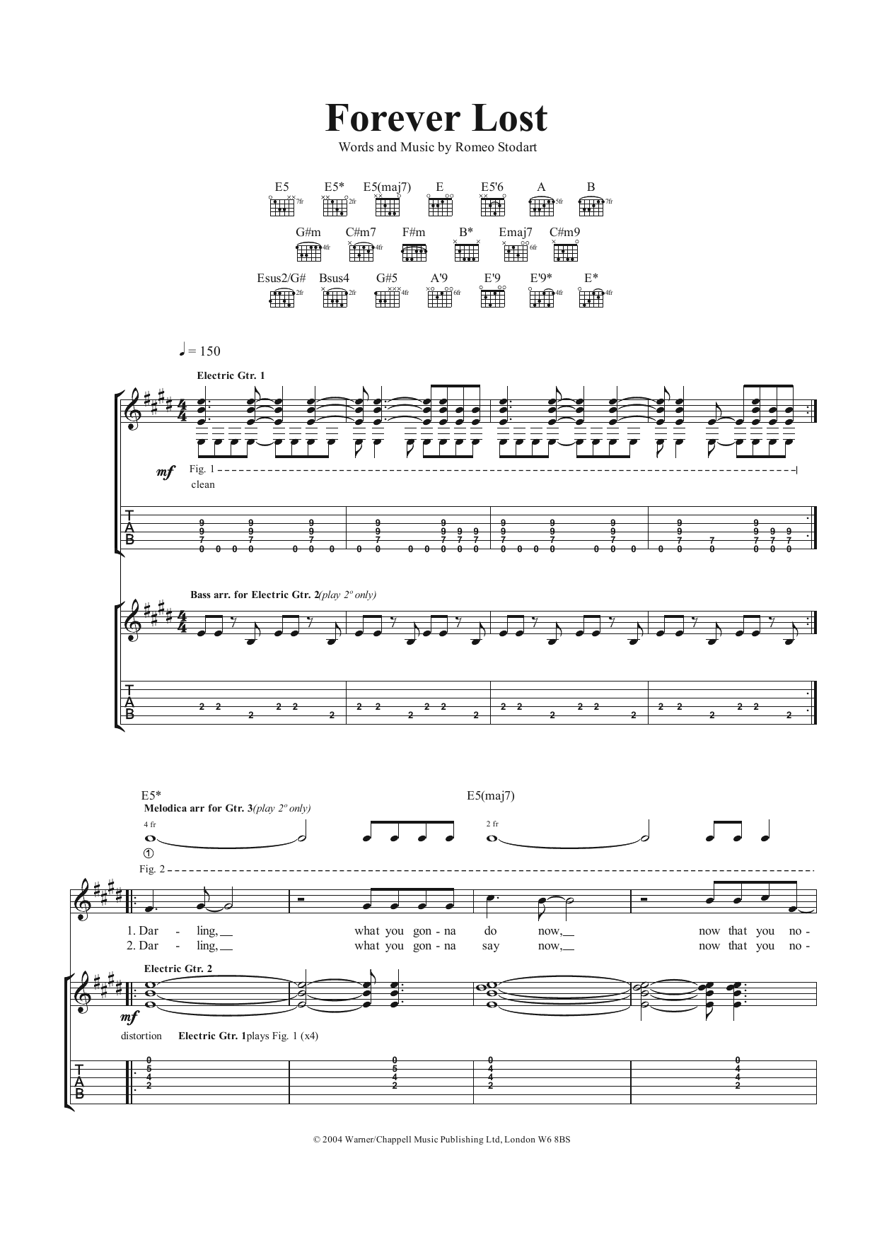 Forever Lost (Guitar Tab)