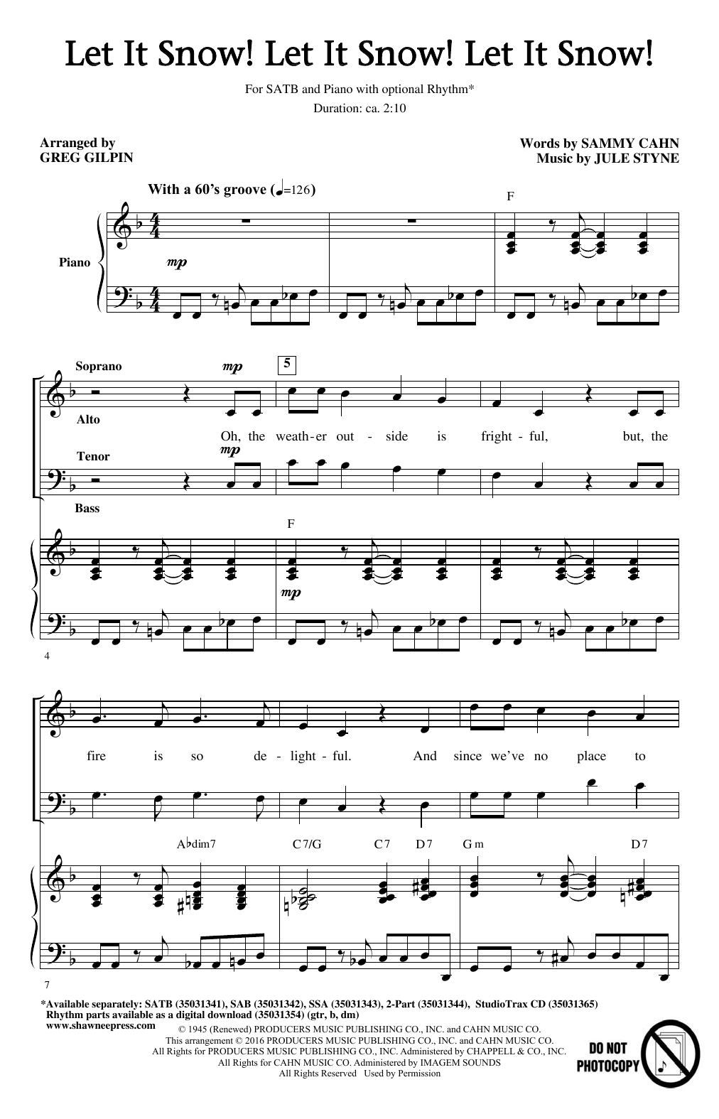 Let It Snow! Let It Snow! Let It Snow! (SATB Choir)