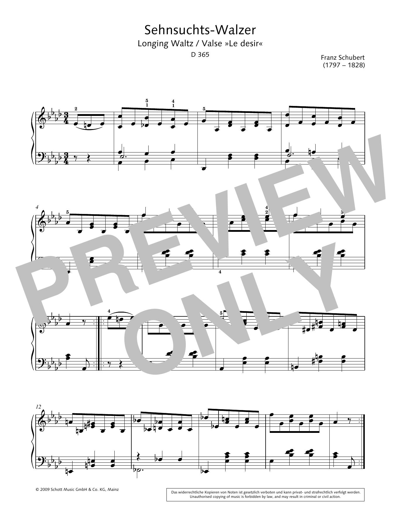 Longing Waltz Sheet Music