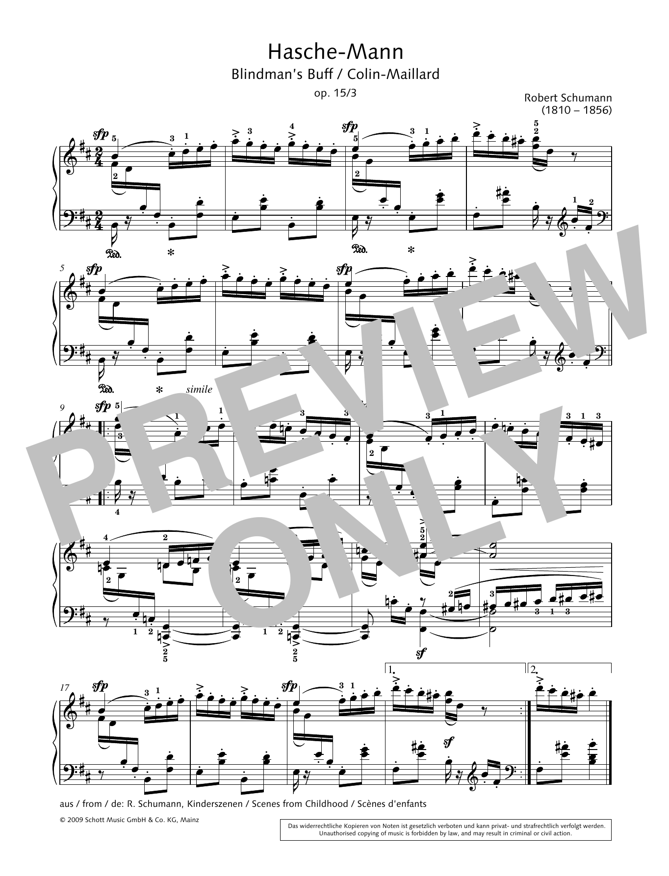 Blindman's Buff Sheet Music