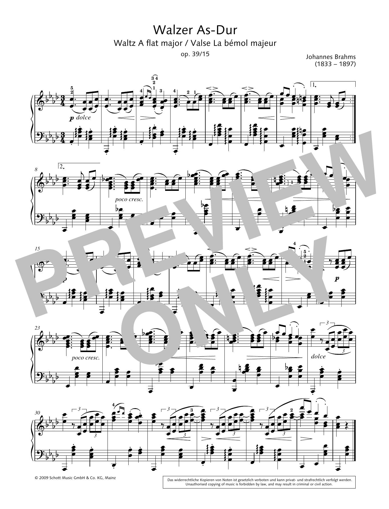 Waltz A-flat major Sheet Music