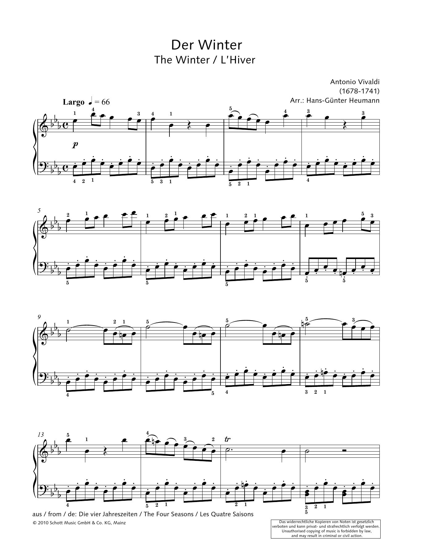 The Winter Sheet Music