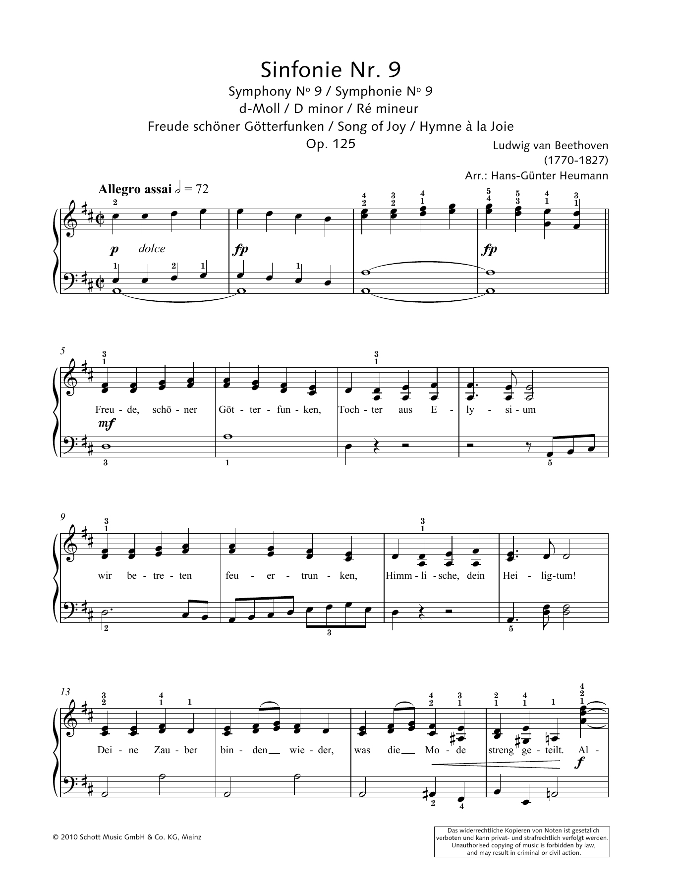 Song Of Joy Sheet Music